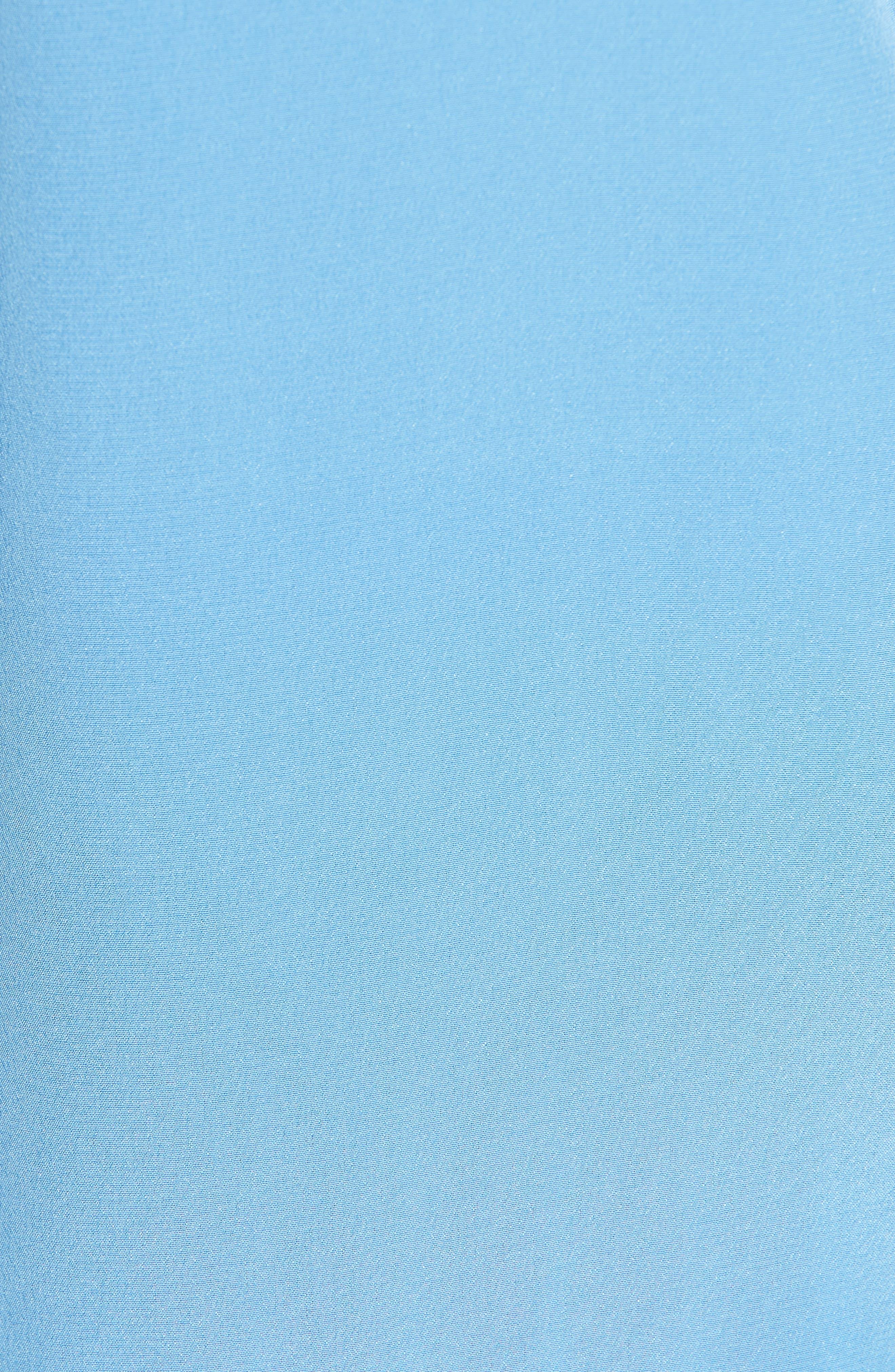 Essential Silk Blouse,                             Alternate thumbnail 5, color,                             ACADEMY BLUE