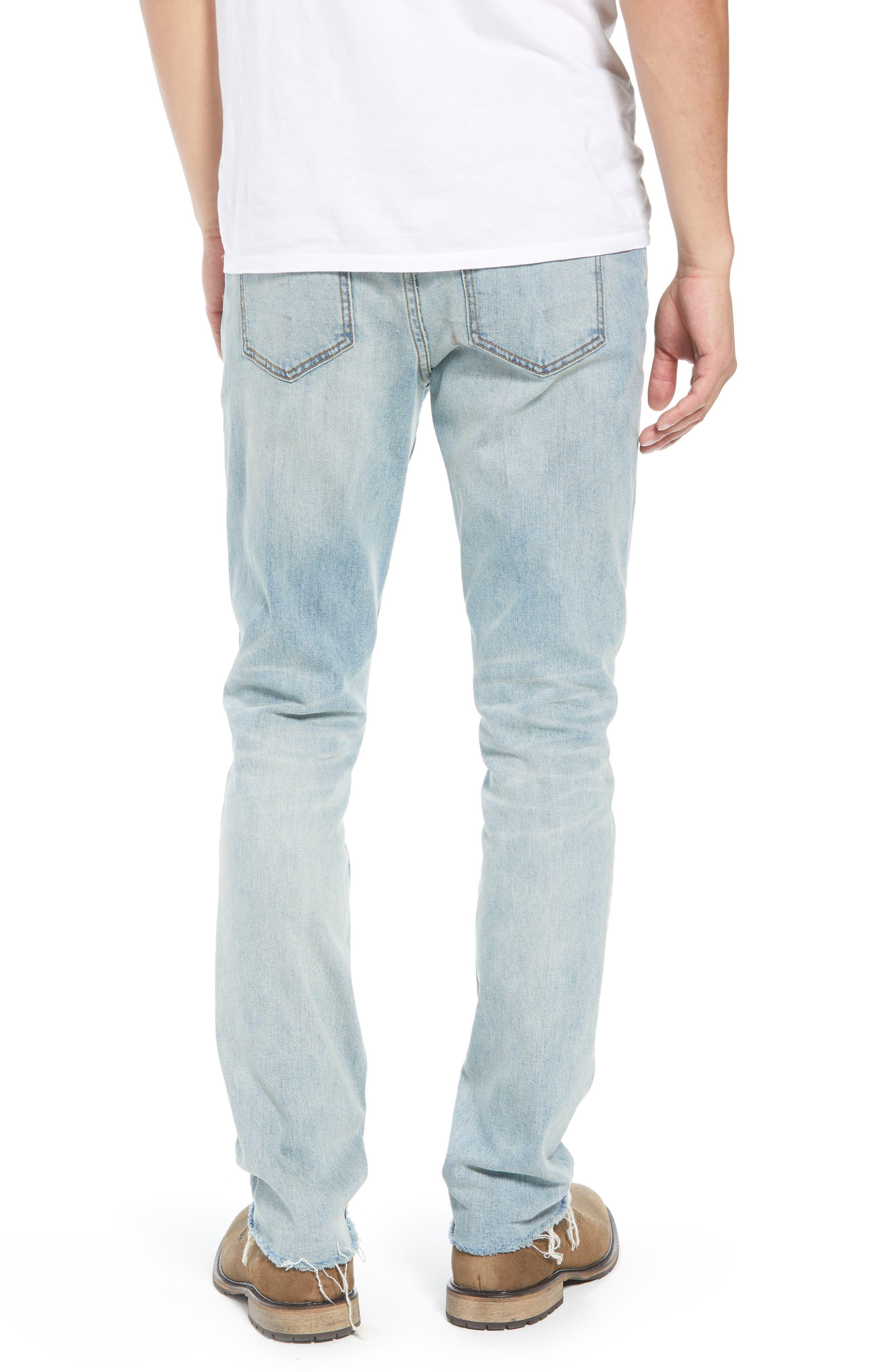 Slim Fit Jeans,                             Alternate thumbnail 2, color,                             BLUE FADED LIGHT WASH