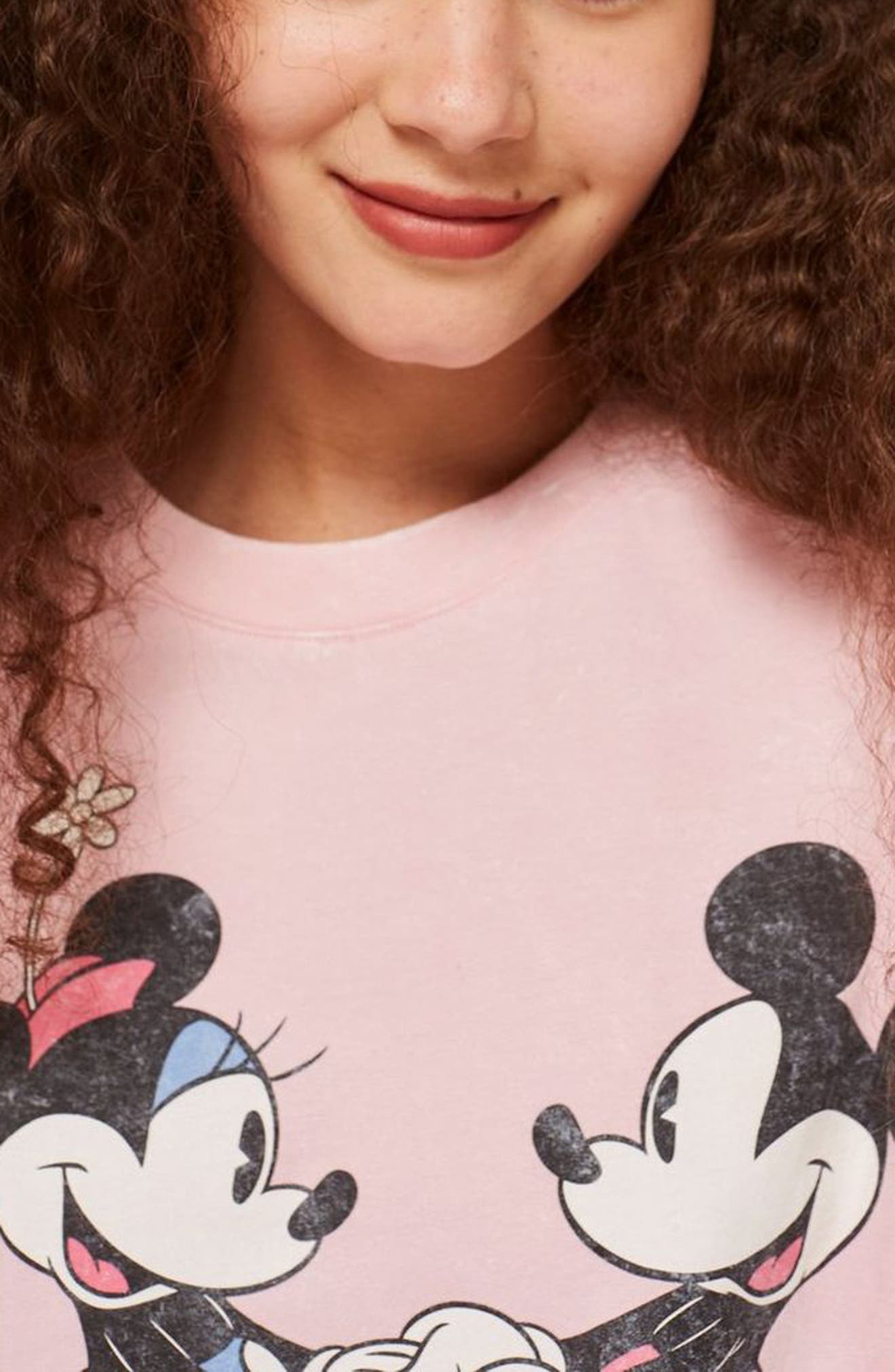 Minnie & Mickey Short Pajamas,                             Alternate thumbnail 3, color,                             DUSTY PINK MULTI