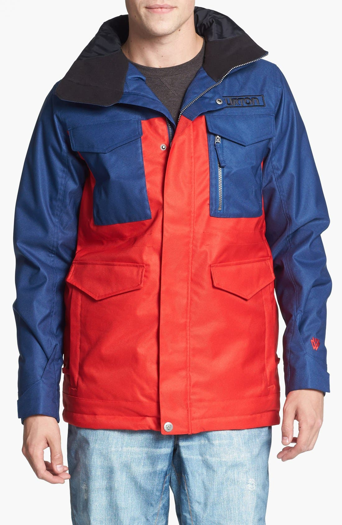 BURTON 'The White Collection - Cannon' Waterproof Jacket, Main, color, 414