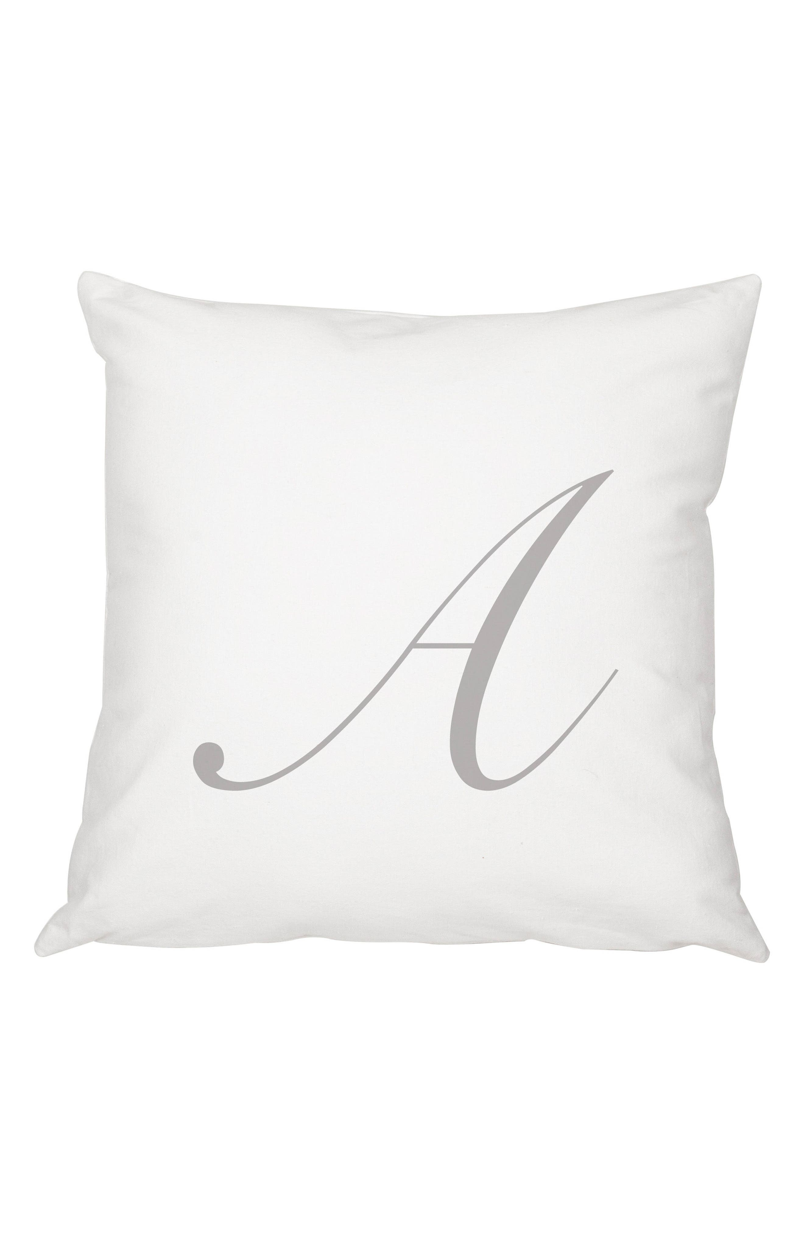 Script Monogram Accent Pillow,                             Main thumbnail 1, color,                             020