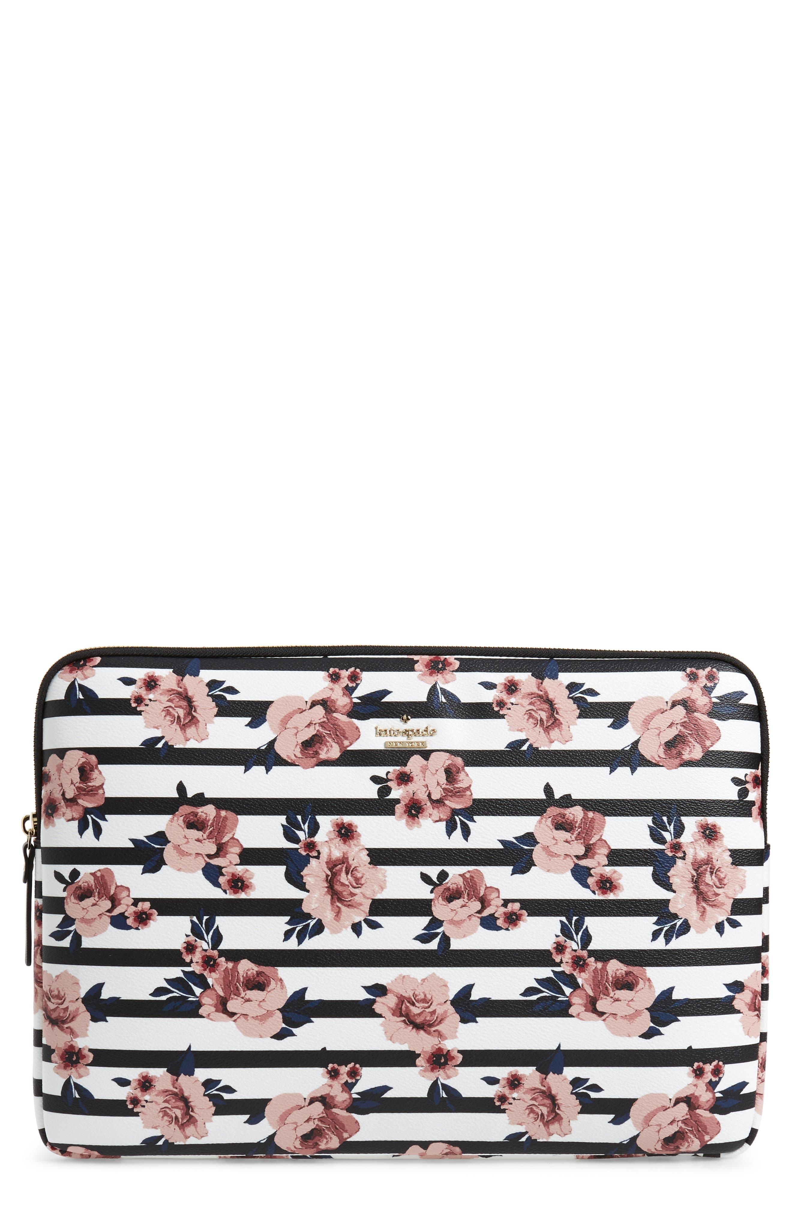rose stripe universal laptop sleeve,                             Main thumbnail 1, color,                             650