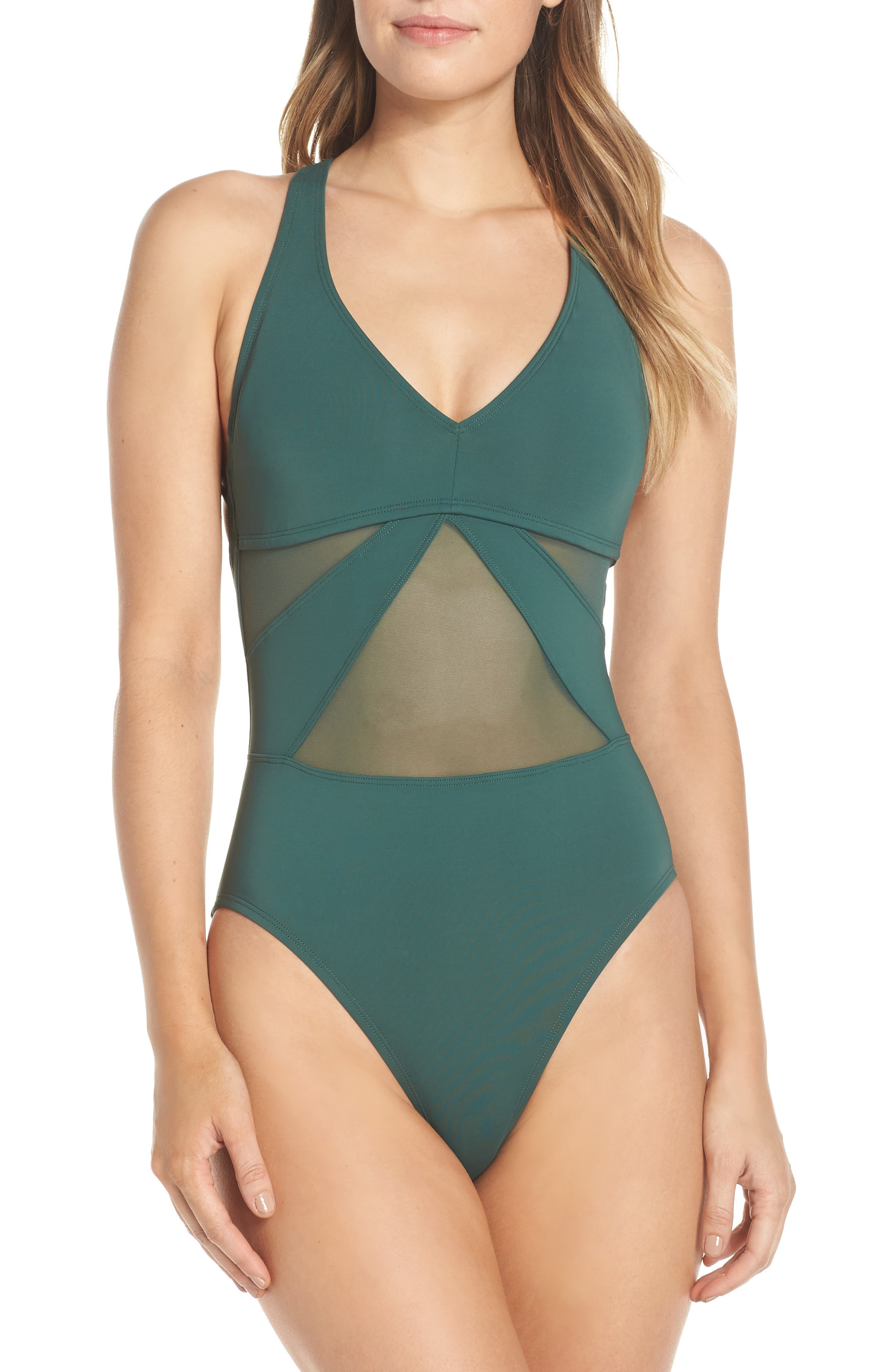 Bleu By Rod Beattie Strappy Back One-Piece Swimsuit, Green