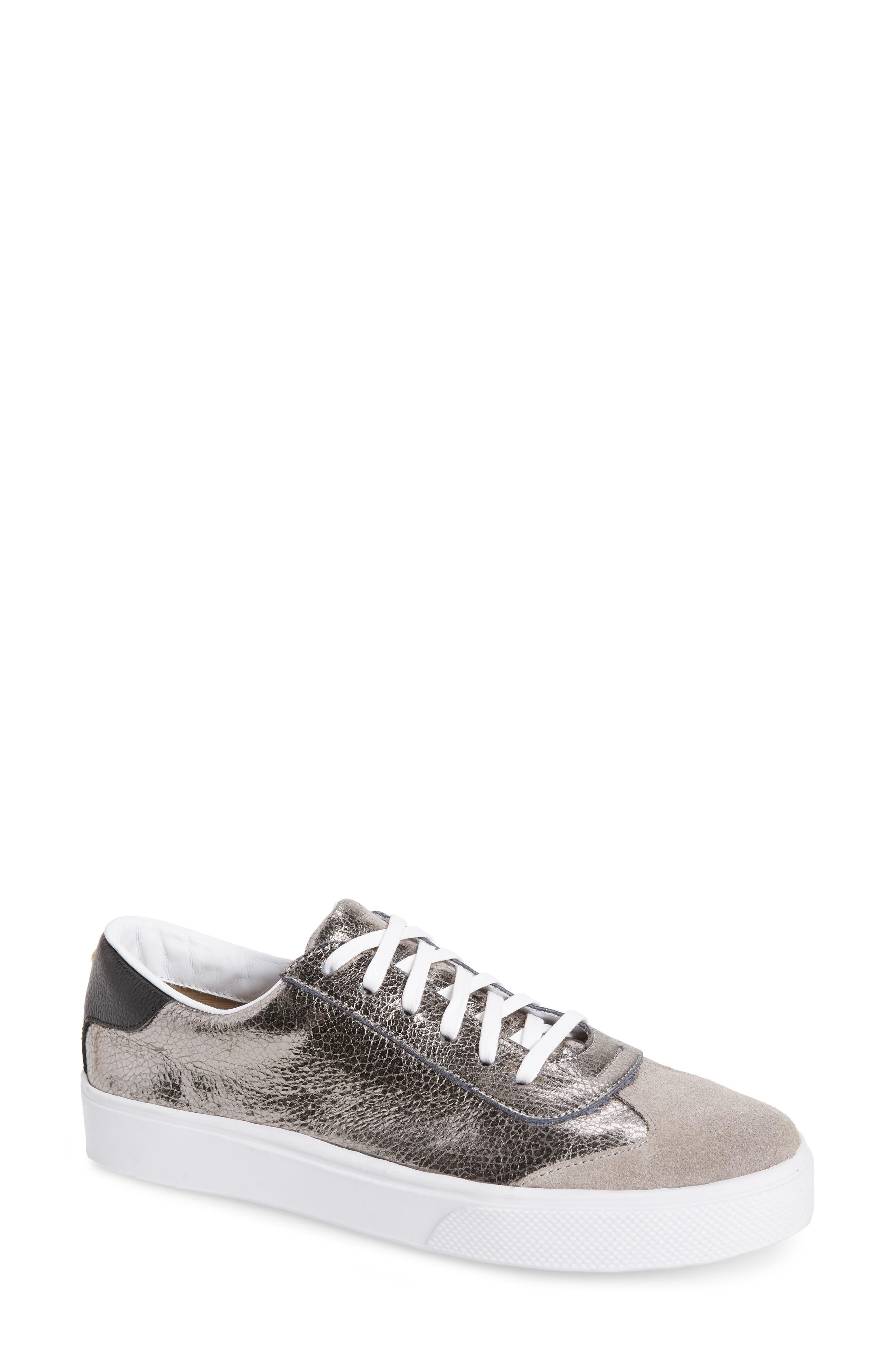 KAANAS Cambridge Sneaker in Gunmetal Leather