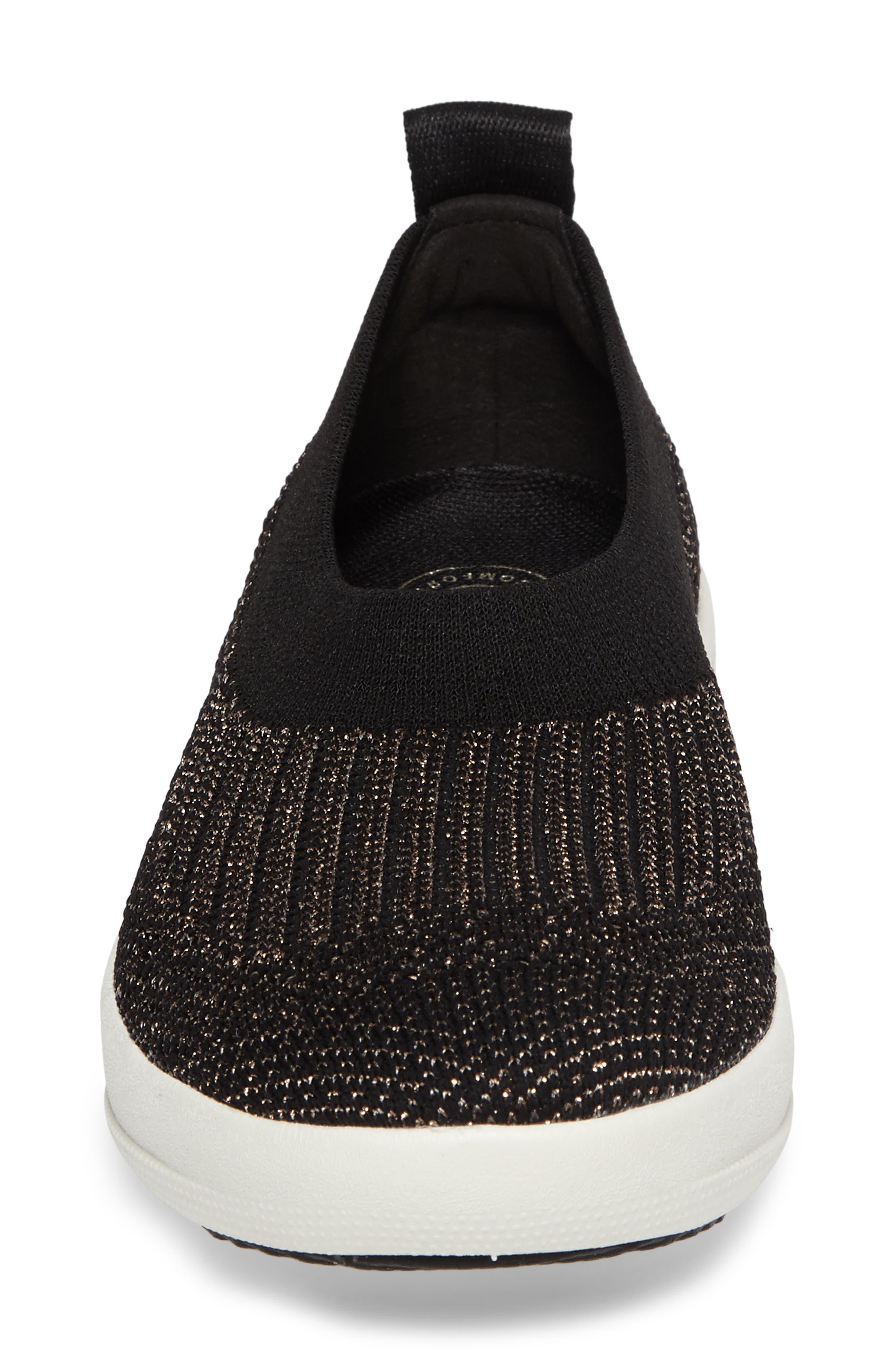 Uberknit<sup>™</sup> Slip-On Ballerina Sneaker,                             Alternate thumbnail 4, color,                             001