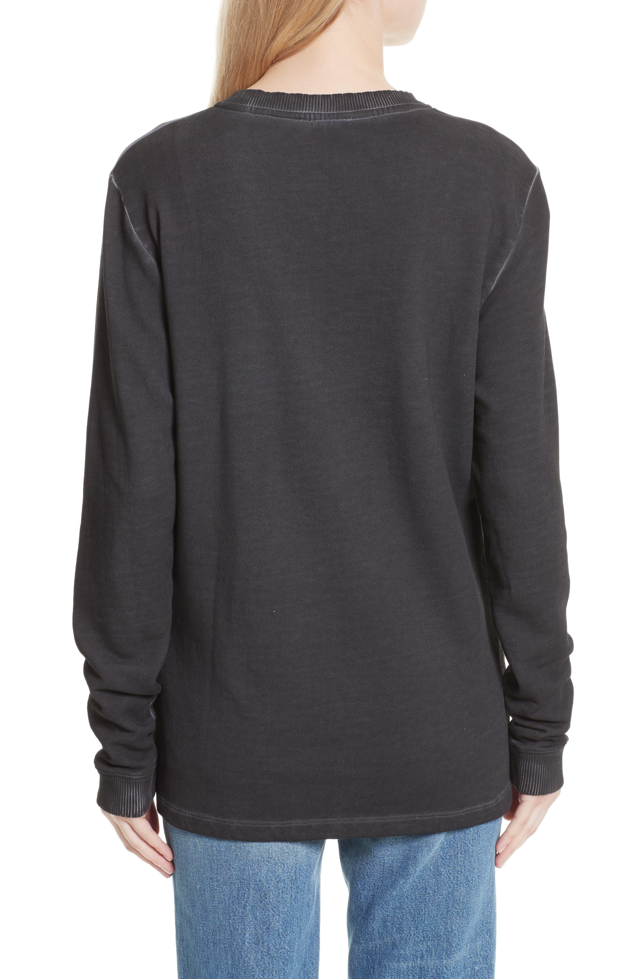 Cozy Stencil Sweatshirt,                             Alternate thumbnail 2, color,                             001