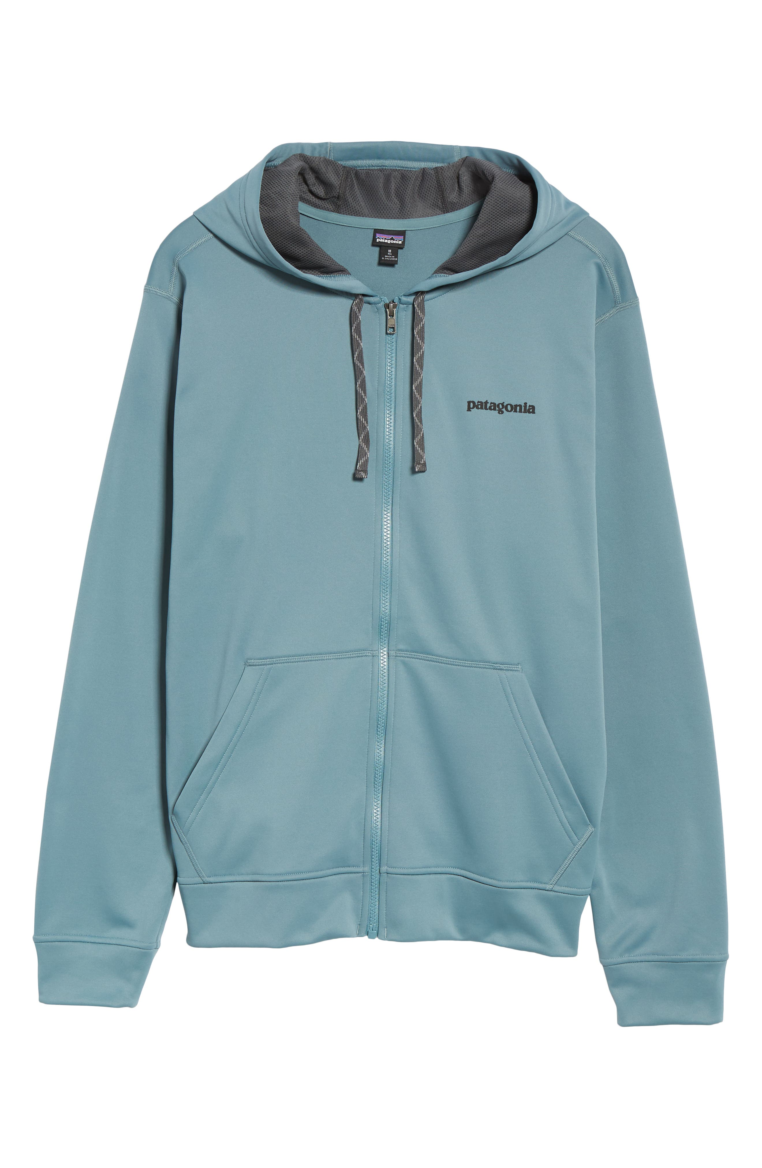 Fitz Roy Trout PolyCycle<sup>®</sup> Full-Zip Hoodie,                             Alternate thumbnail 6, color,                             SHADOW BLUE