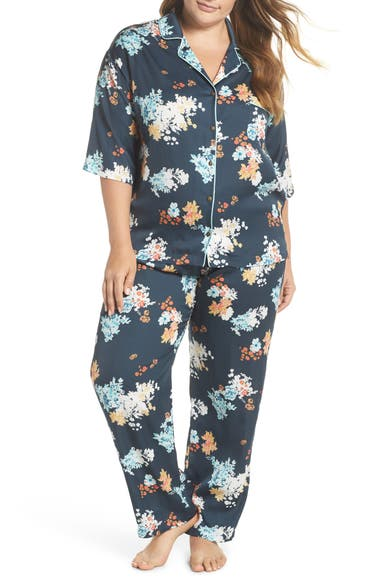 bfd05db907 Nordstrom Lingerie Matte Satin Pajamas (Plus Size)