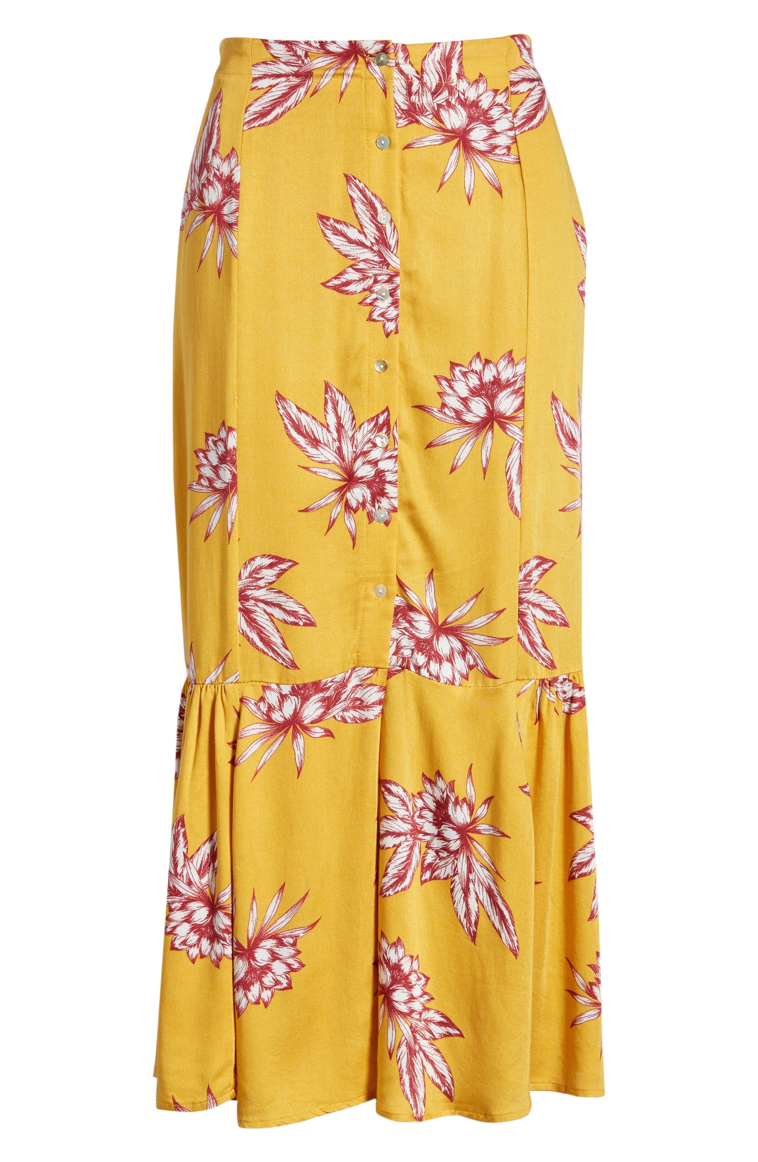 Searing Soul Midi Skirt,                             Alternate thumbnail 6, color,                             700