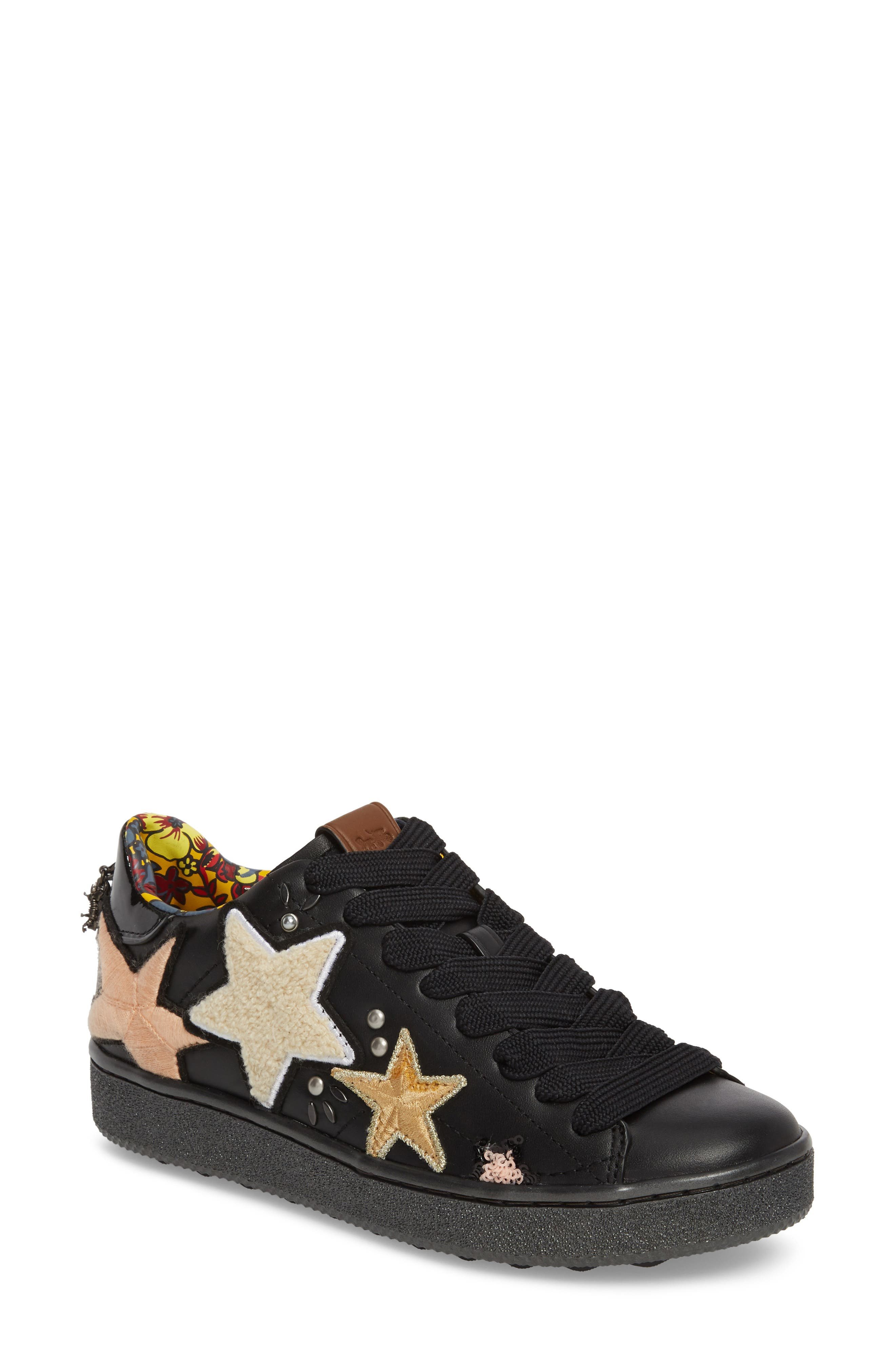 Star Patch Sneaker,                         Main,                         color, 001