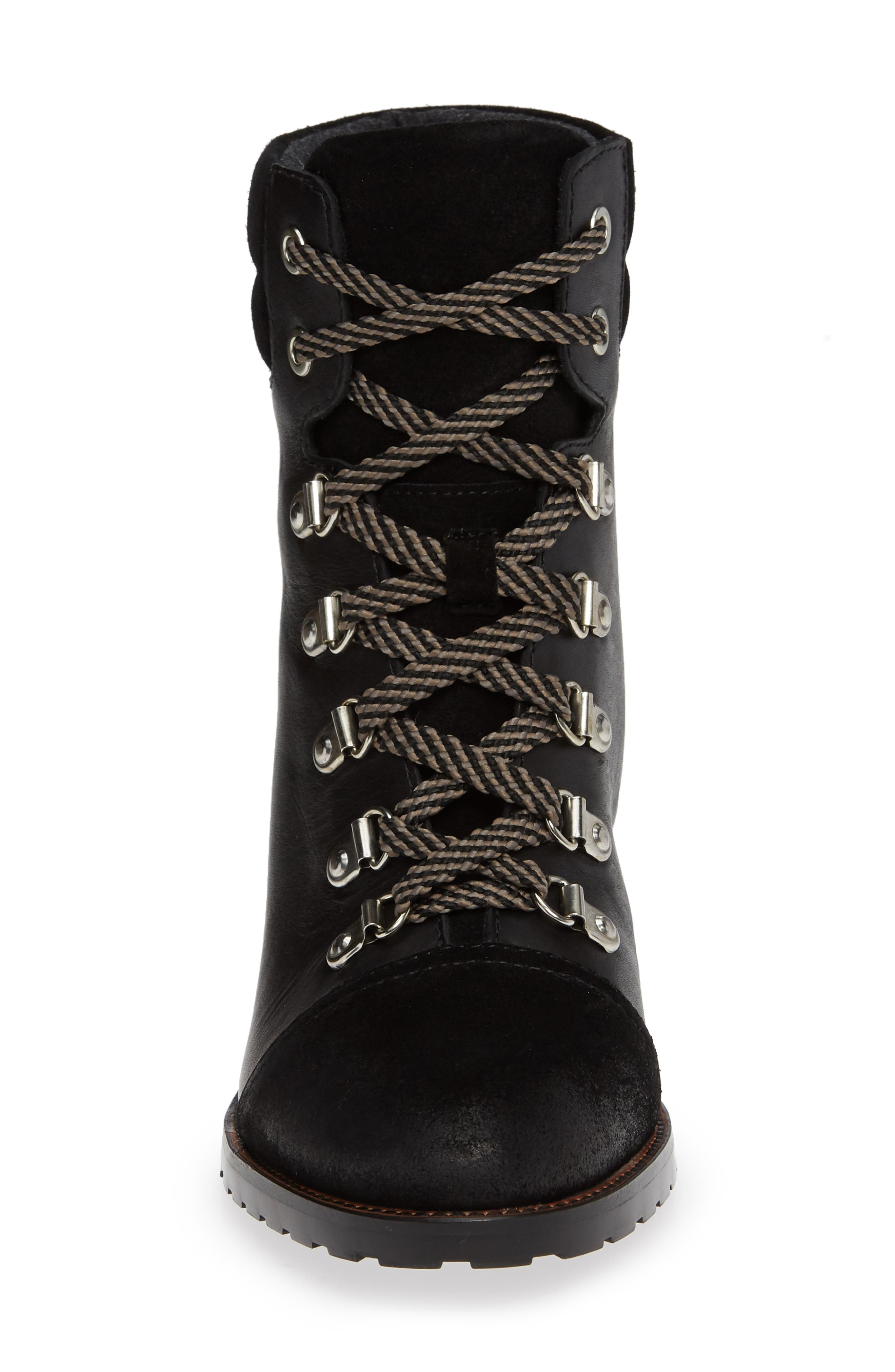 Manchester Boot,                             Alternate thumbnail 4, color,                             BLACK STRIPED CRUSHED VELVET