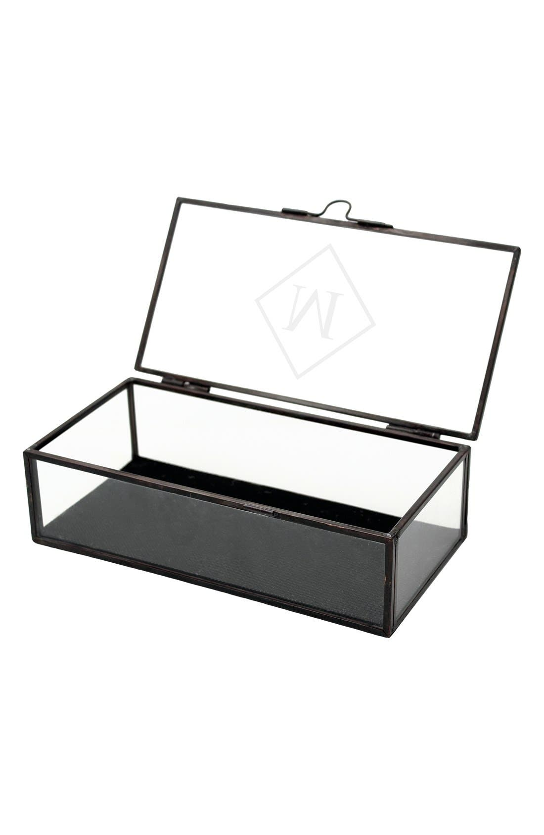 Monogram Glass Shadow Box,                             Alternate thumbnail 2, color,                             001