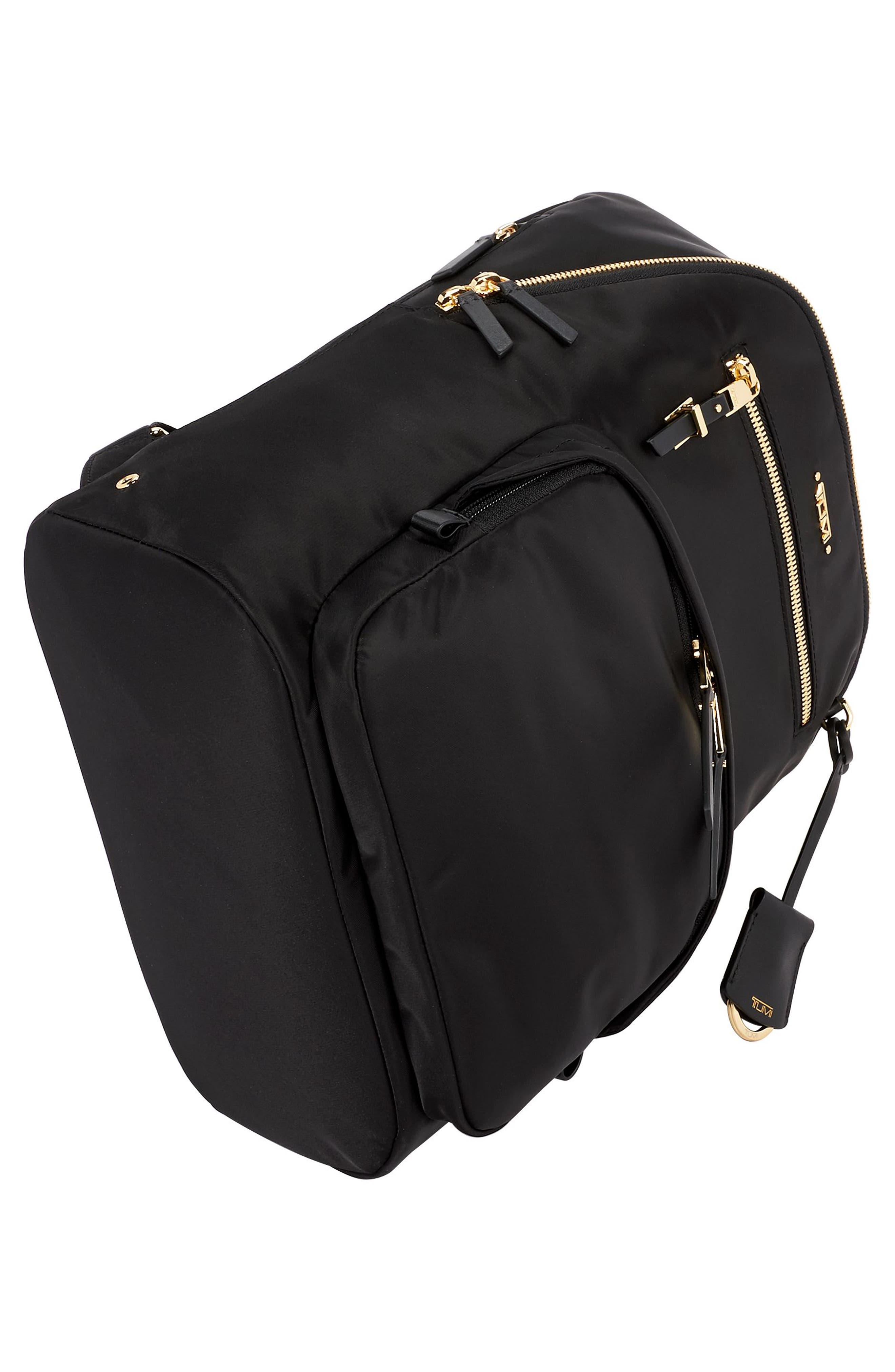 Voyageur Hagen Nylon Backpack,                             Alternate thumbnail 5, color,                             BLACK
