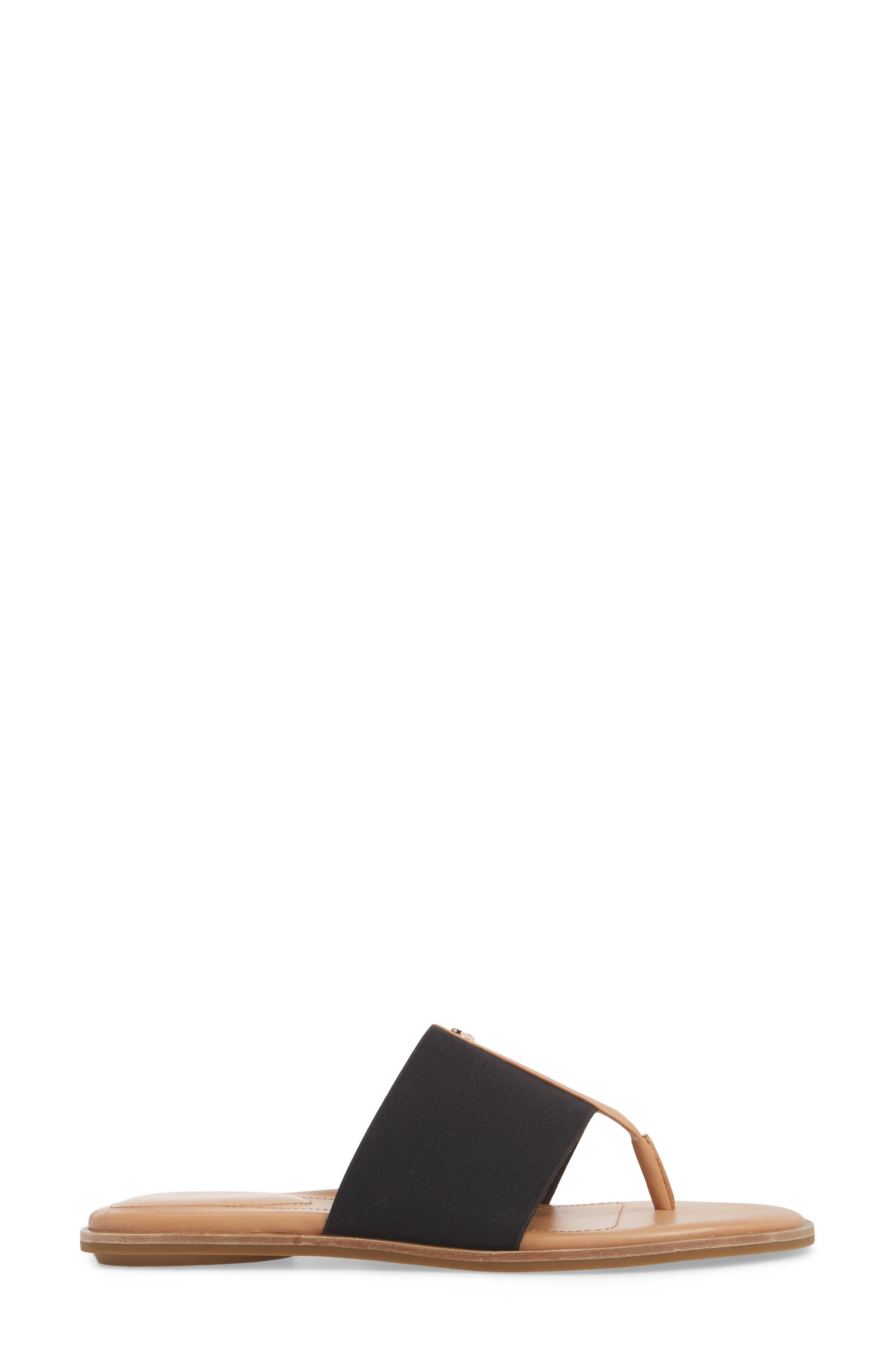 Kamryn Flip Flop,                             Alternate thumbnail 3, color,                             BLACK LEATHER