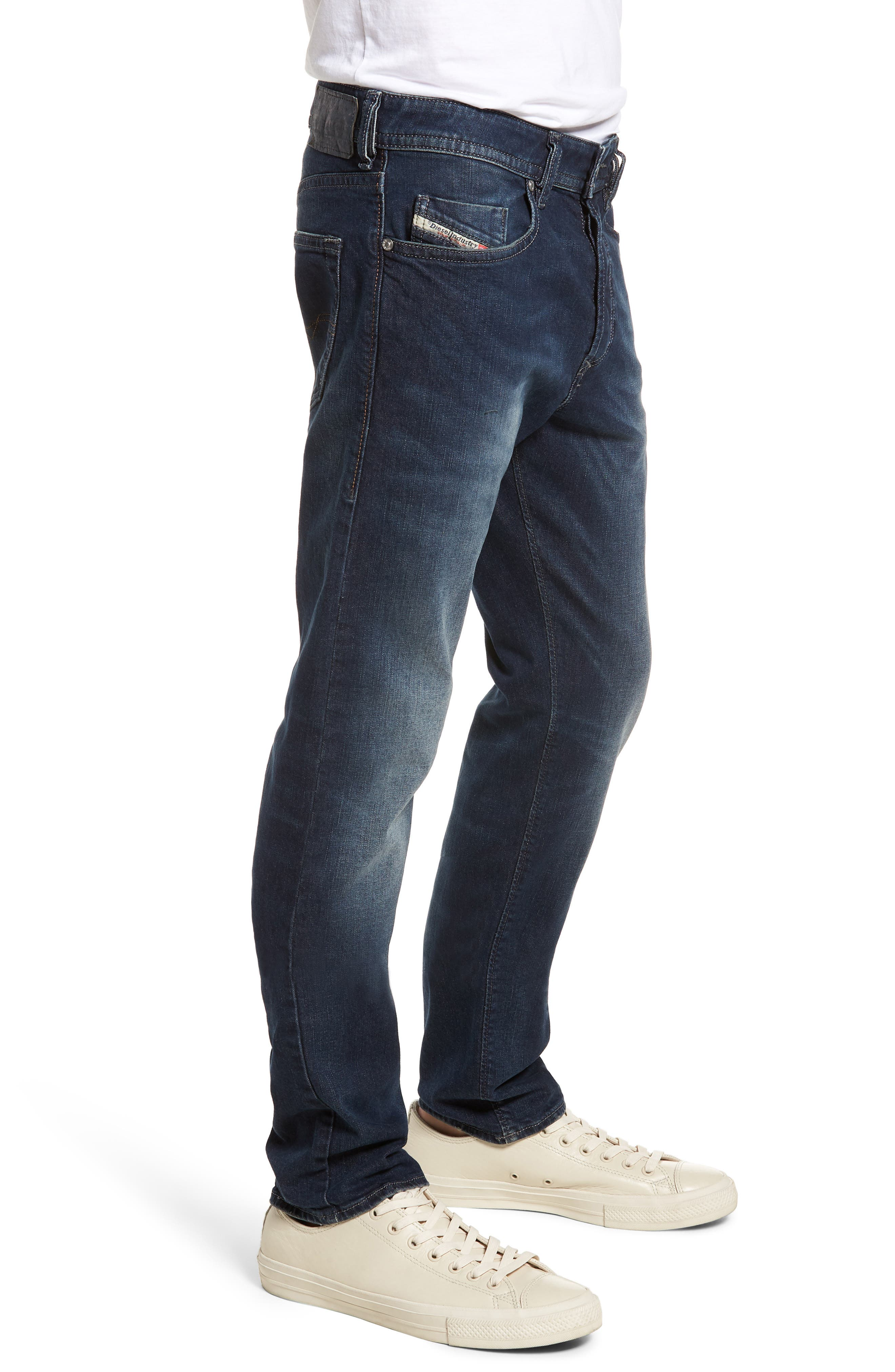 Buster Slim Straight Leg Jeans,                             Alternate thumbnail 3, color,                             BLUE