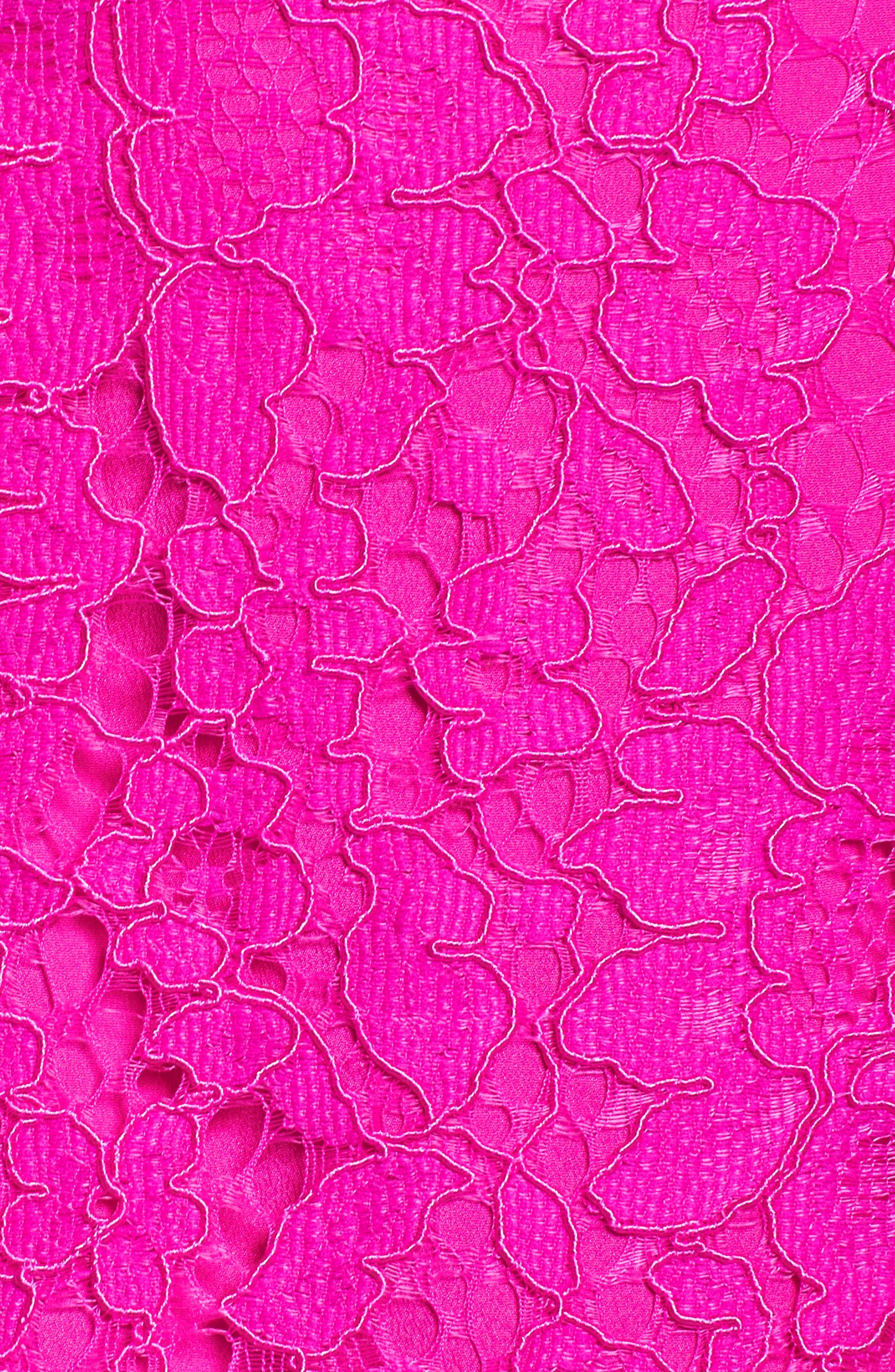 Demi Lace Dress,                             Alternate thumbnail 8, color,                             BERRY SANGRIA FLORAL LACE