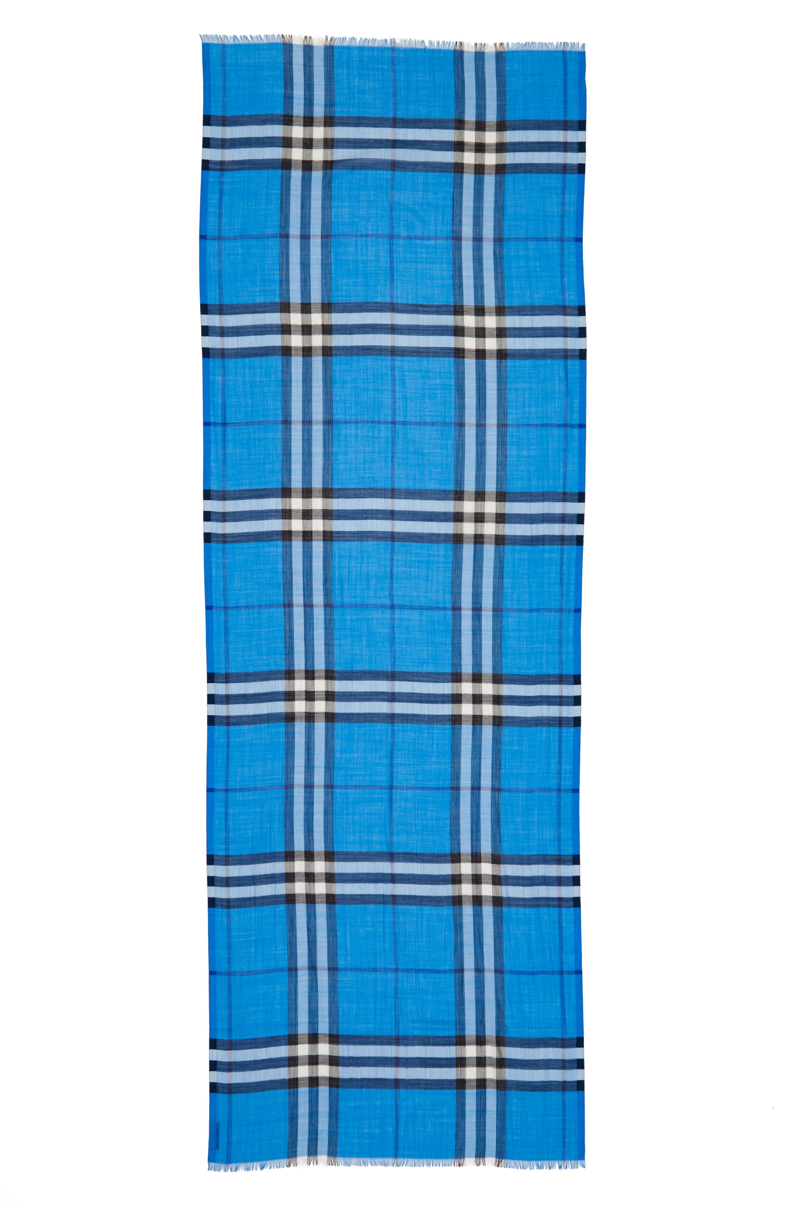 Giant Check Print Wool & Silk Scarf,                             Alternate thumbnail 95, color,