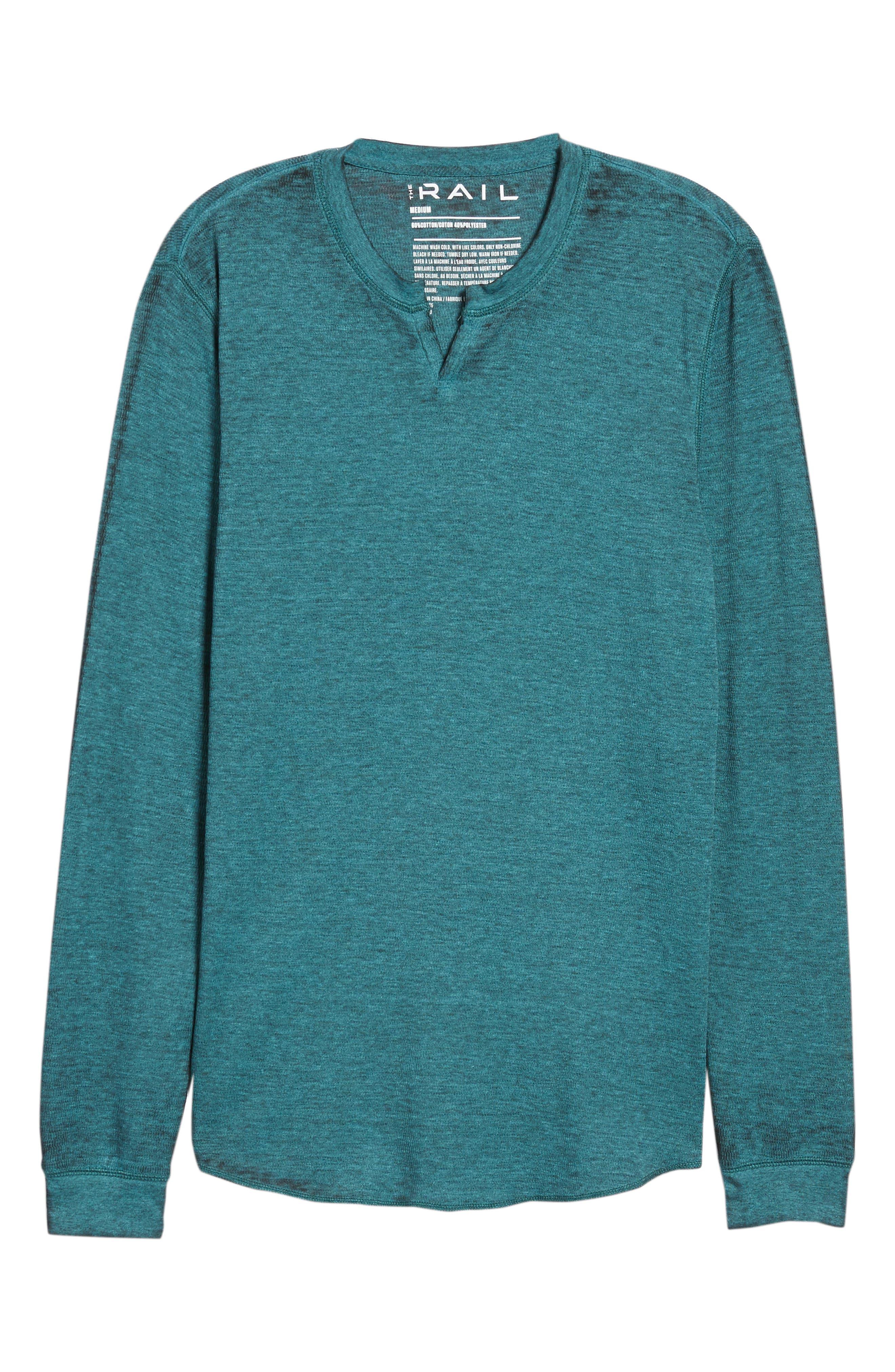 Notch Neck Thermal T-Shirt,                             Alternate thumbnail 41, color,