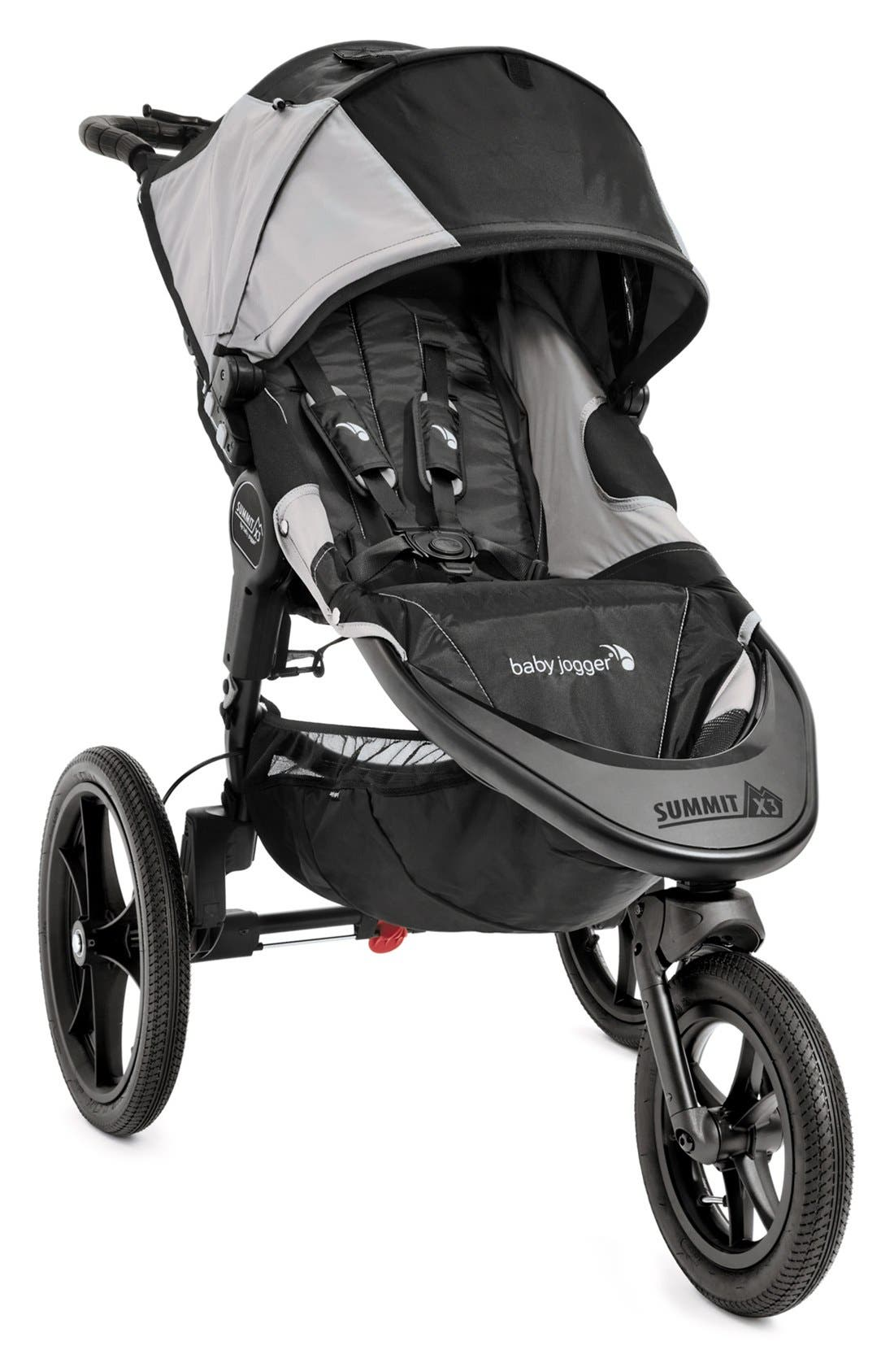Summit X3 Single Jogging Stroller,                             Main thumbnail 1, color,                             BLACK