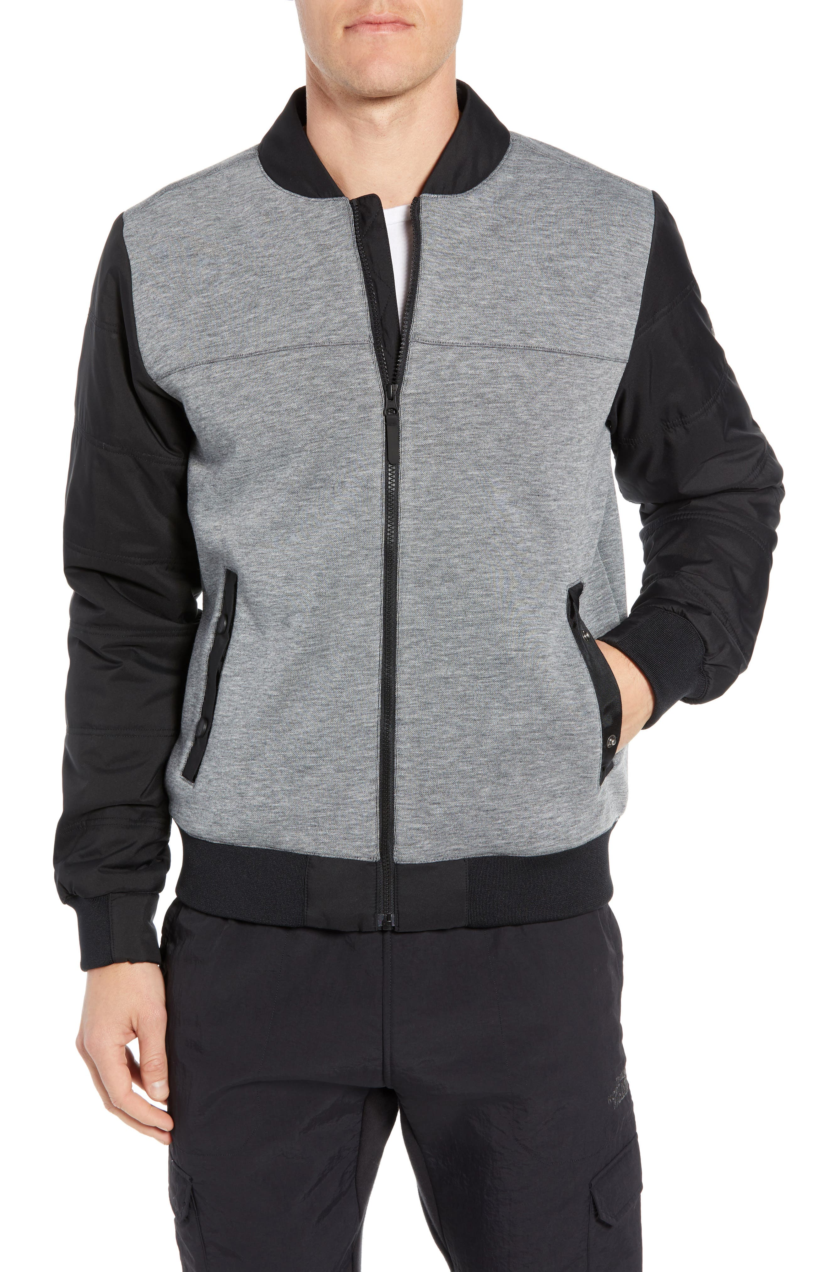 The North Face Far Northern Hybrid Bomber Jacket, Grey
