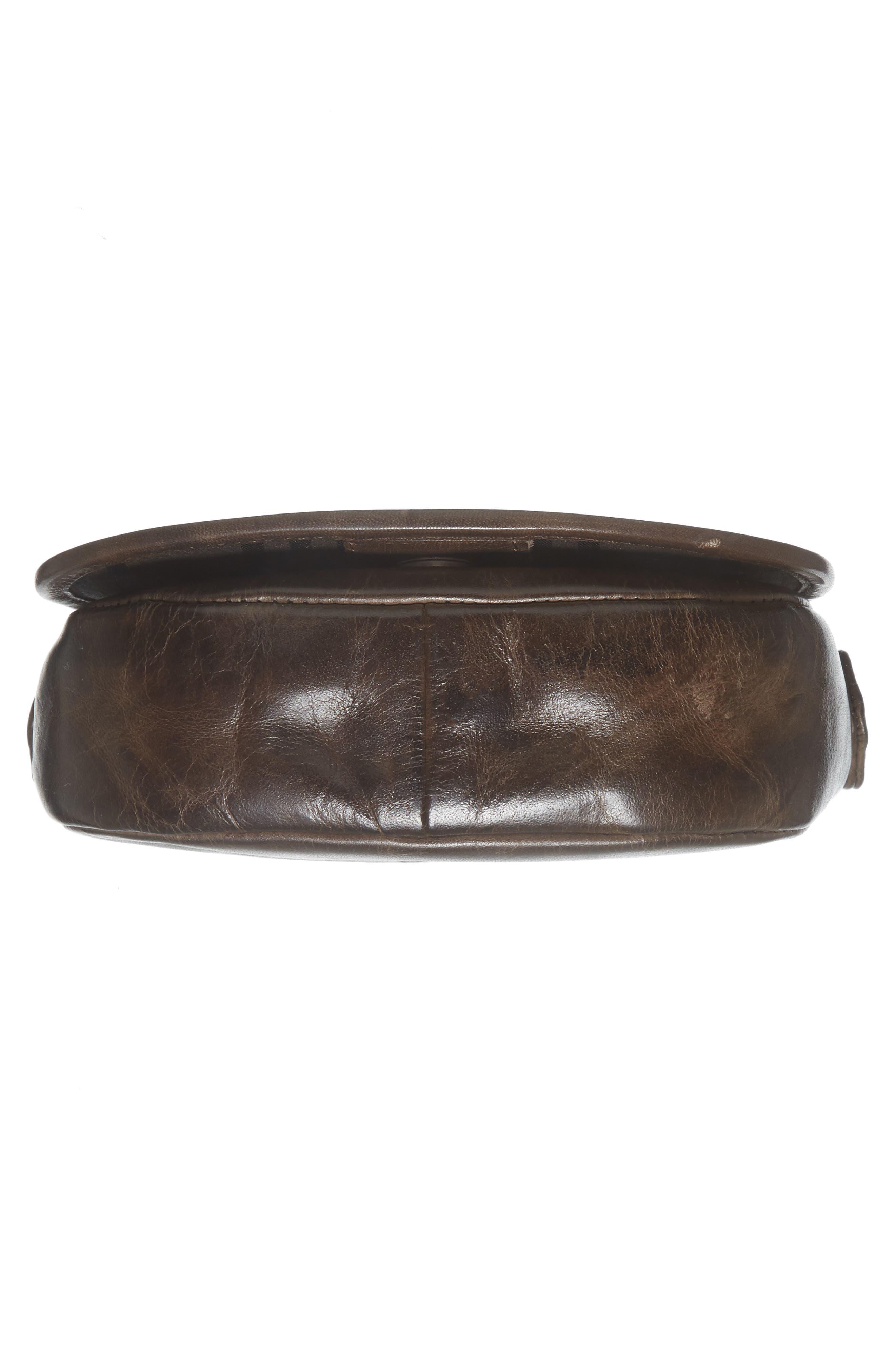 Mini Melissa Whipstitch Leather Saddle Bag,                             Alternate thumbnail 6, color,                             203