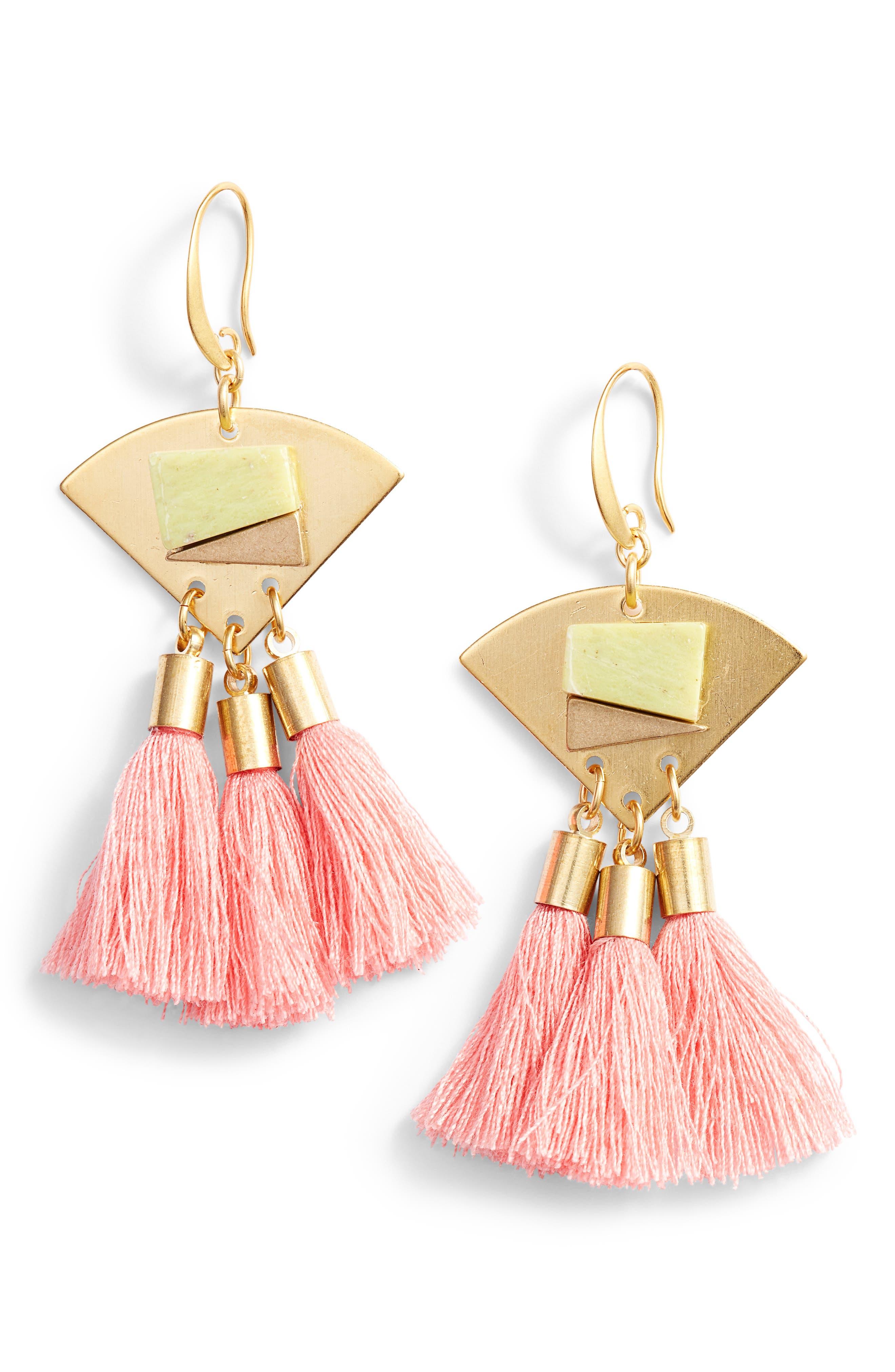 3-Tassel Earrings,                             Main thumbnail 3, color,