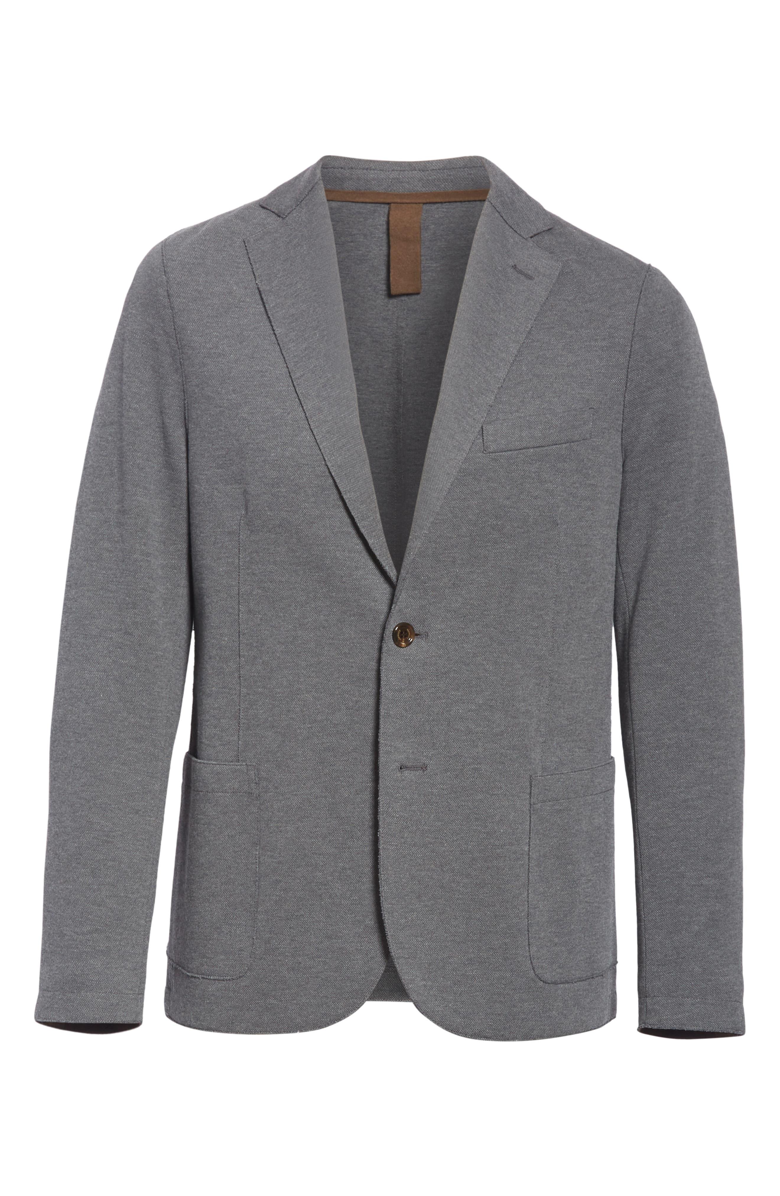 Slim Fit Stretch Cotton Blend Sport Coat,                             Alternate thumbnail 5, color,                             MED GREY