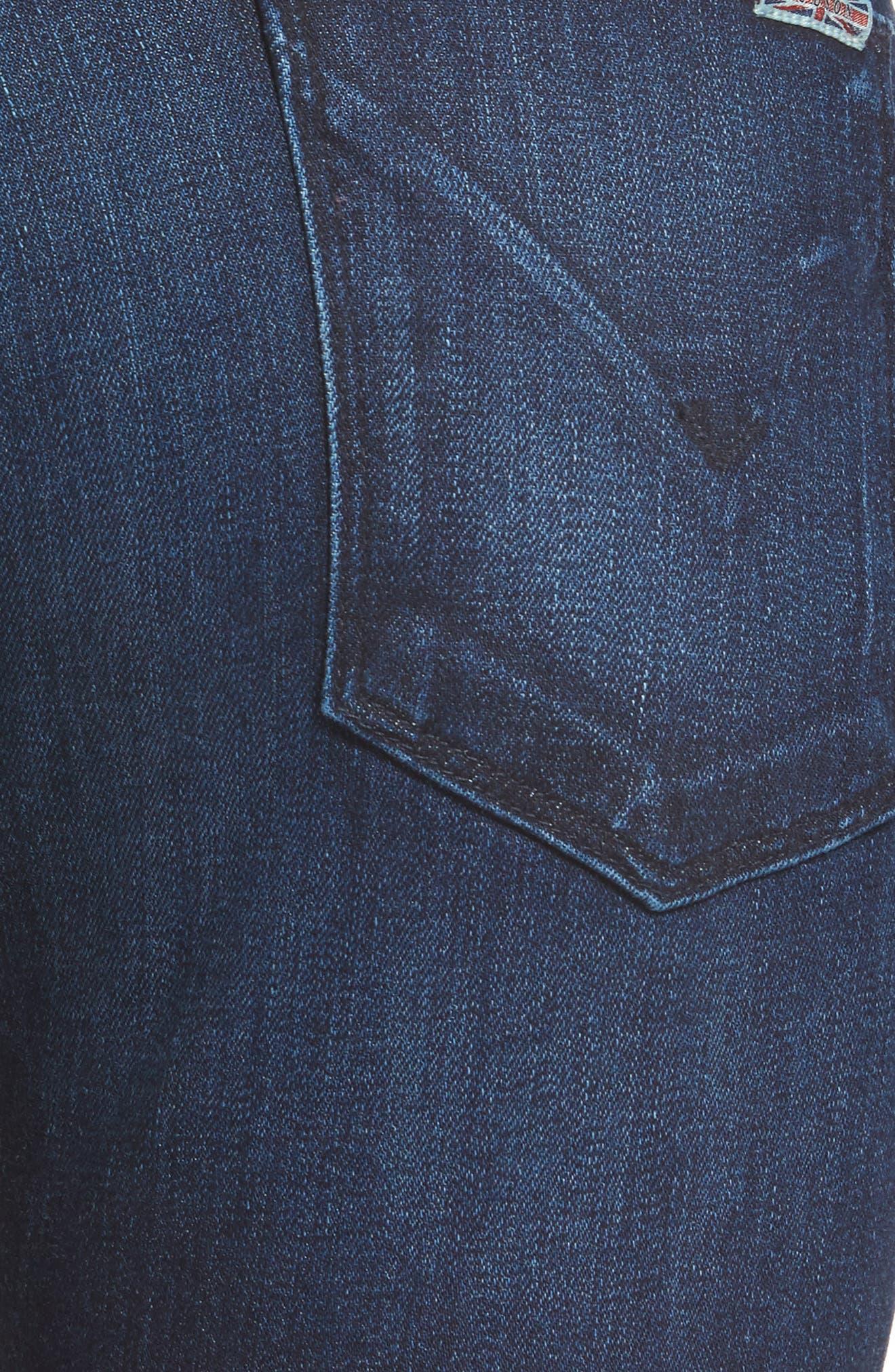 Tally Unfamed Hem Skinny Jeans,                             Alternate thumbnail 6, color,                             401