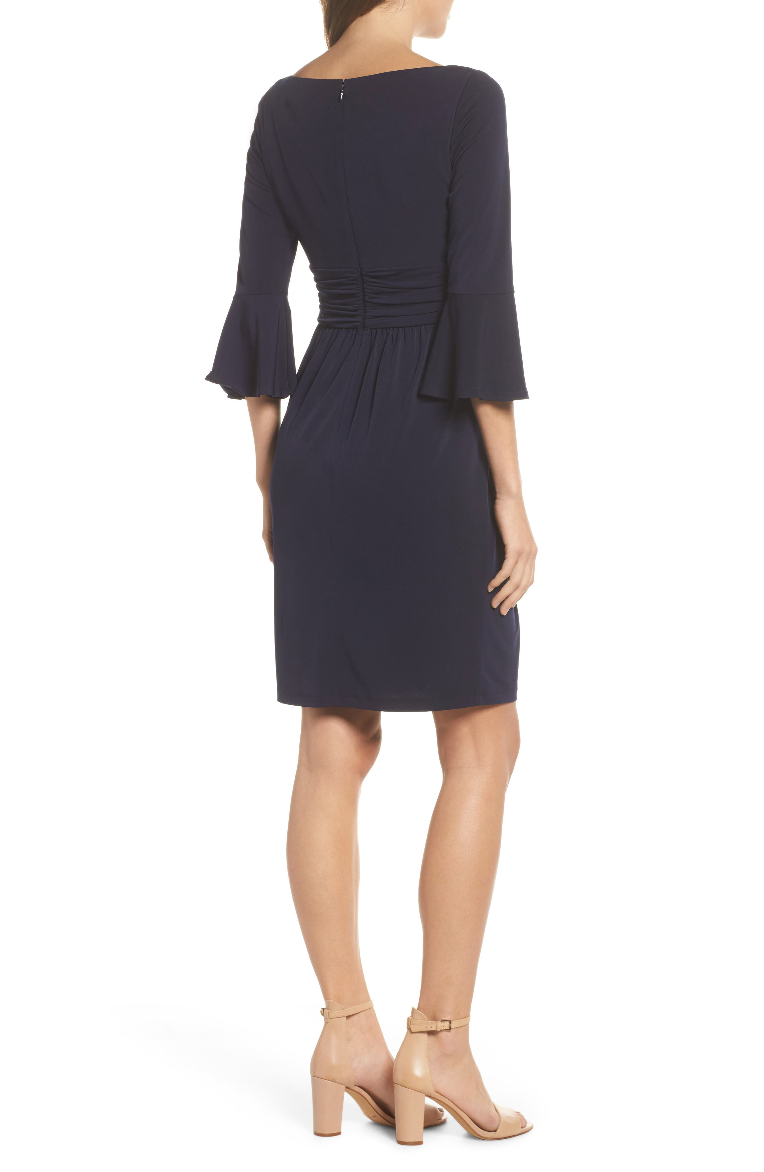 Flounce Sleeve Sheath Dress,                             Alternate thumbnail 3, color,