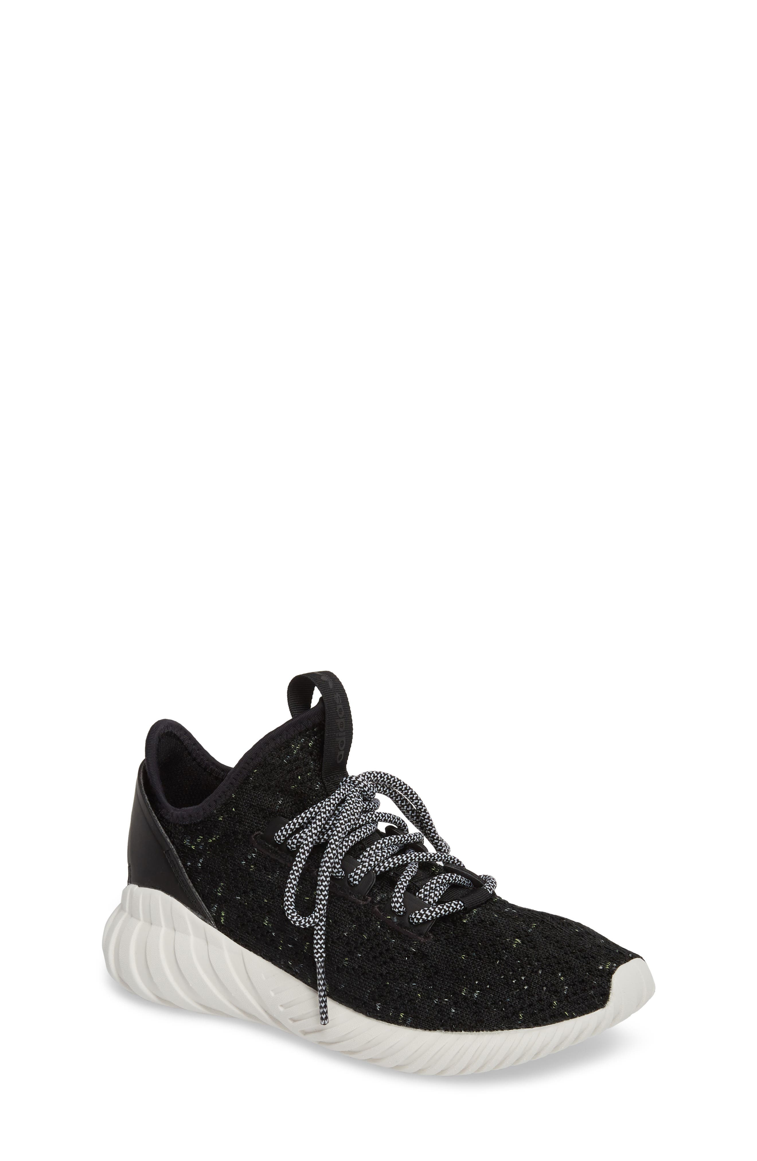 Tubular Doom Sock Primeknit Sneaker,                             Main thumbnail 1, color,                             001