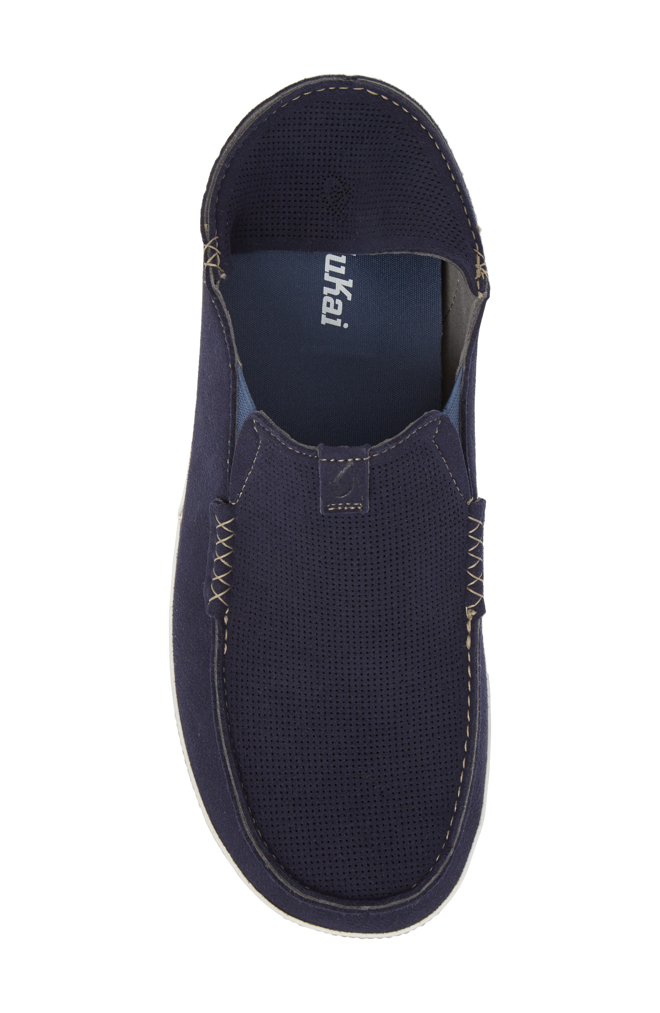 Kauwela Collapsible Slip-On,                             Alternate thumbnail 6, color,                             TRENCH BLUE/ OFF WHITE