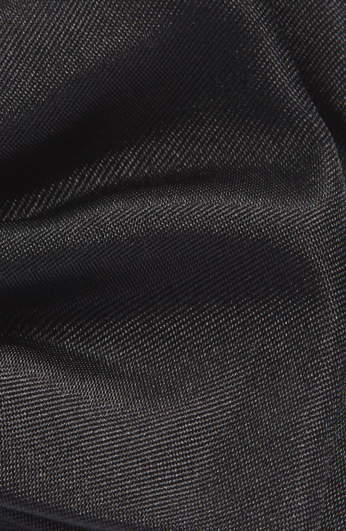 Silk Pre-Tied Bow Tie,                             Alternate thumbnail 2, color,                             BLACK