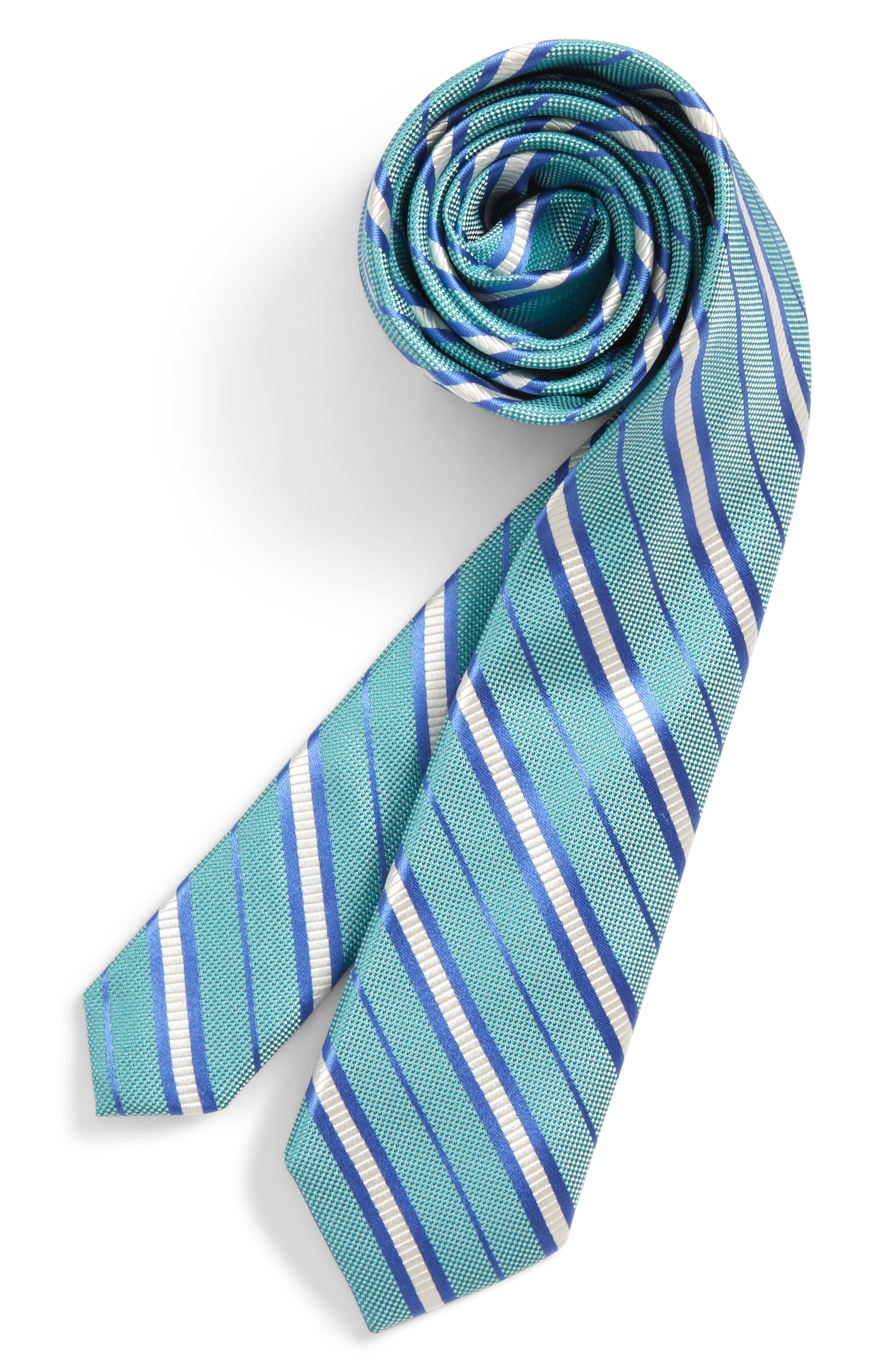 Candy Stripe Silk Tie,                             Main thumbnail 1, color,                             445