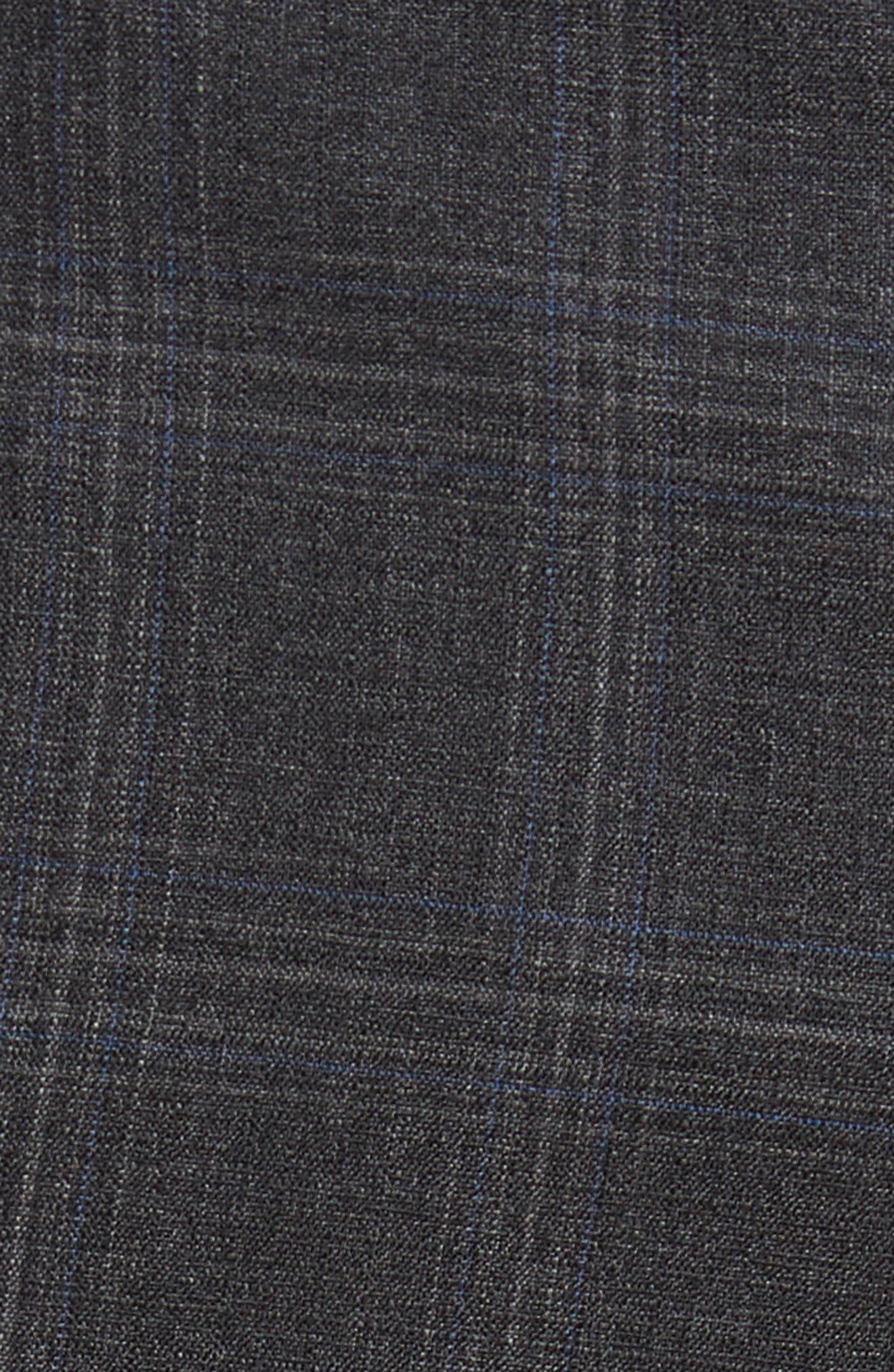 Devon Flat Front Plaid Wool Trousers,                             Alternate thumbnail 2, color,                             020