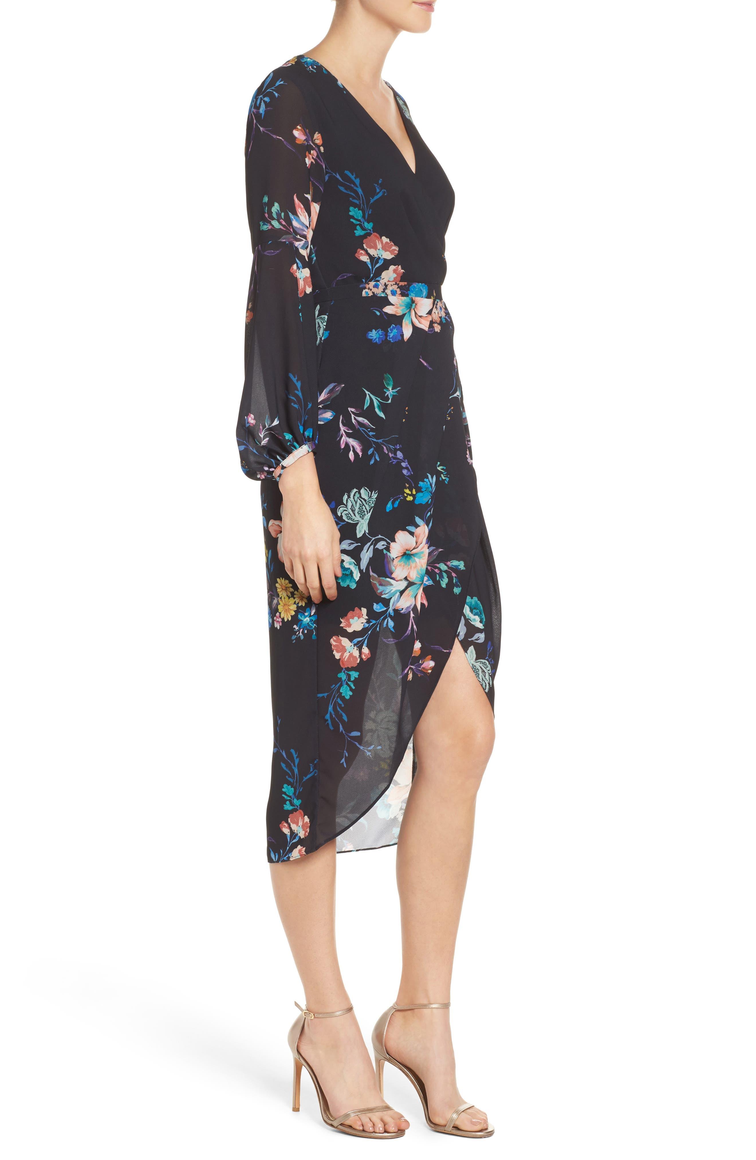 Romanticise Midi Dress,                             Alternate thumbnail 6, color,