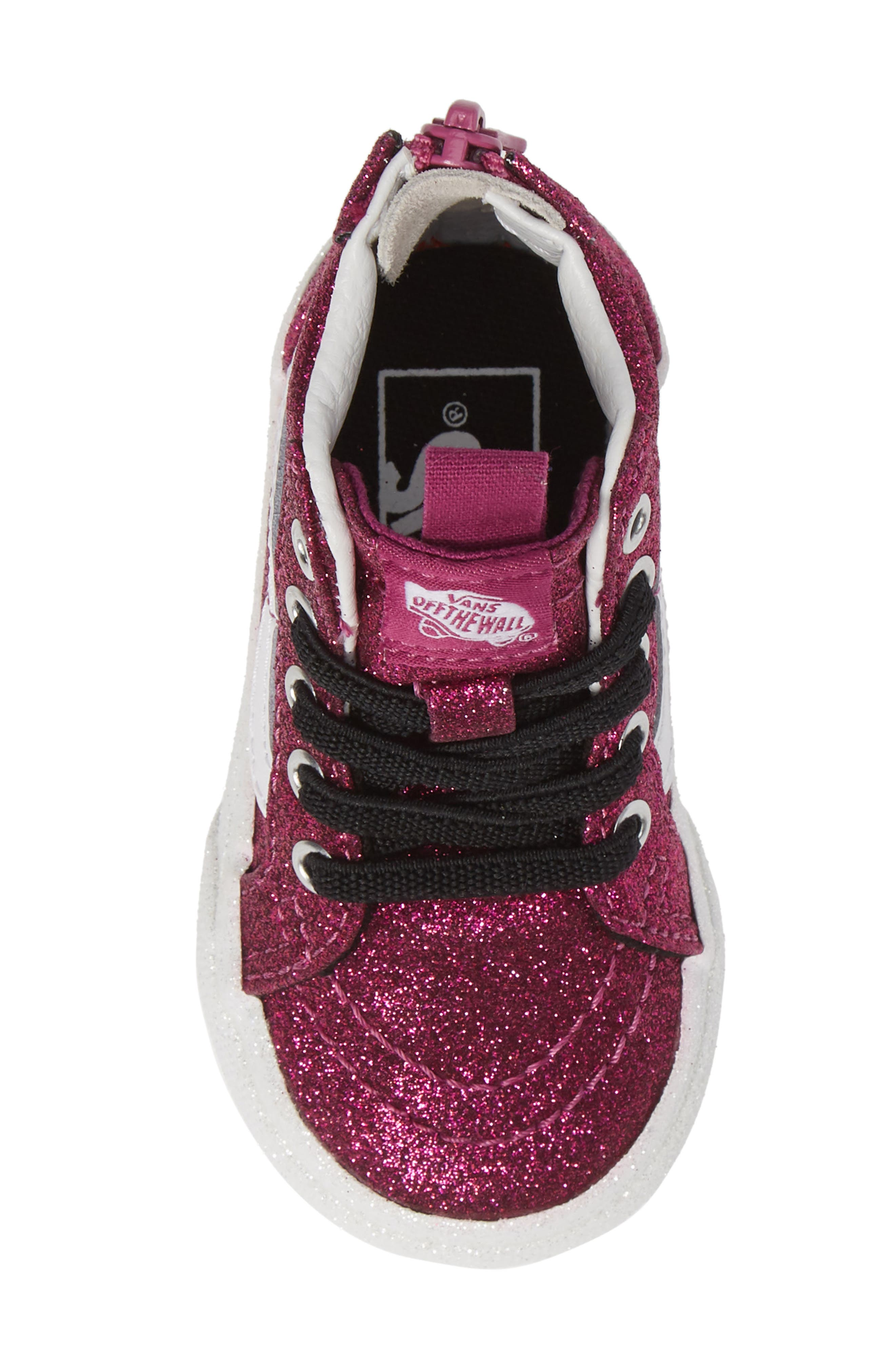 SK8-Hi Zip Sneaker,                             Alternate thumbnail 5, color,                             WILD ASTER/ TRUE WHITE