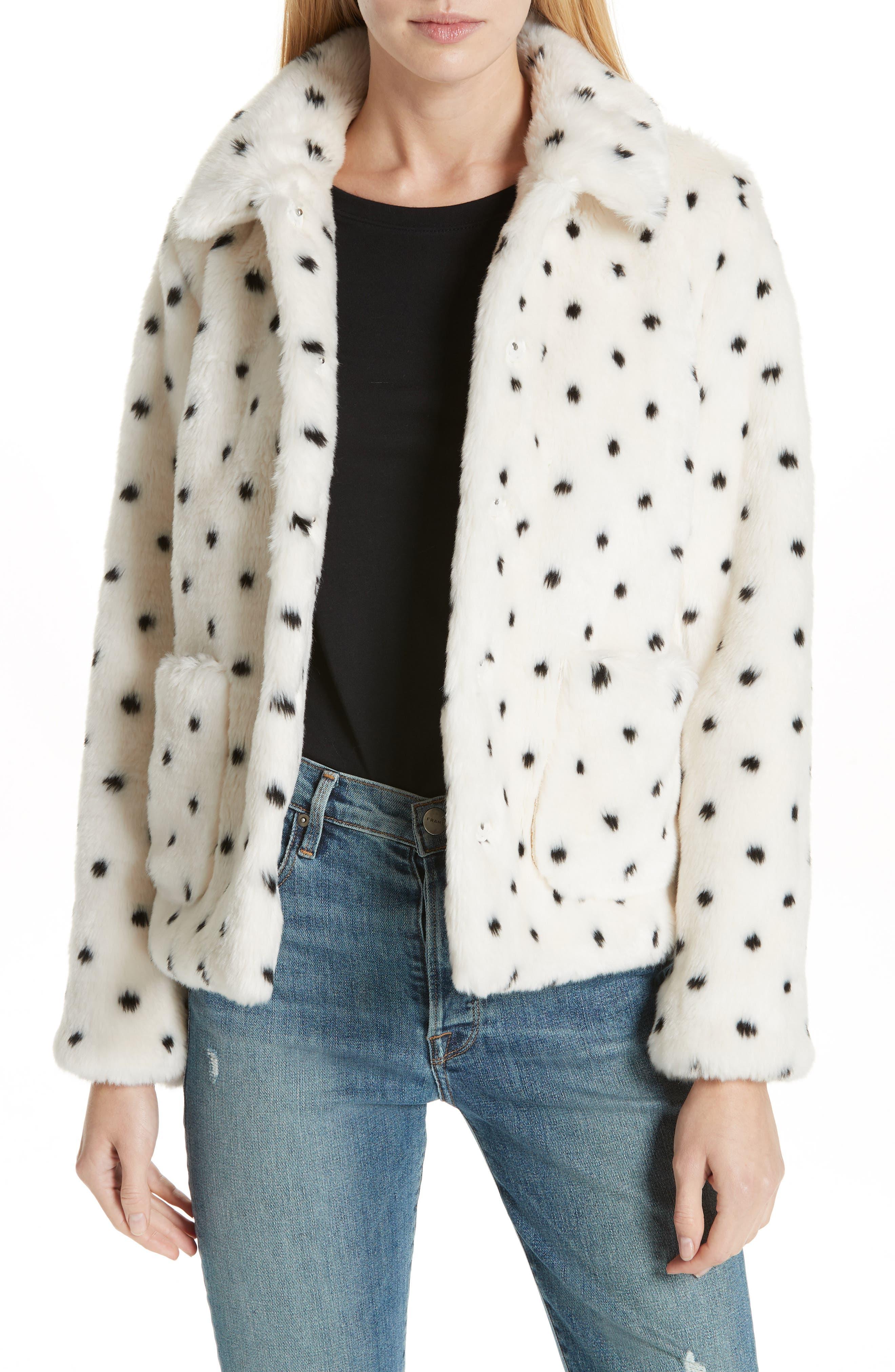 Faux Fur Coat, Main, color, 100