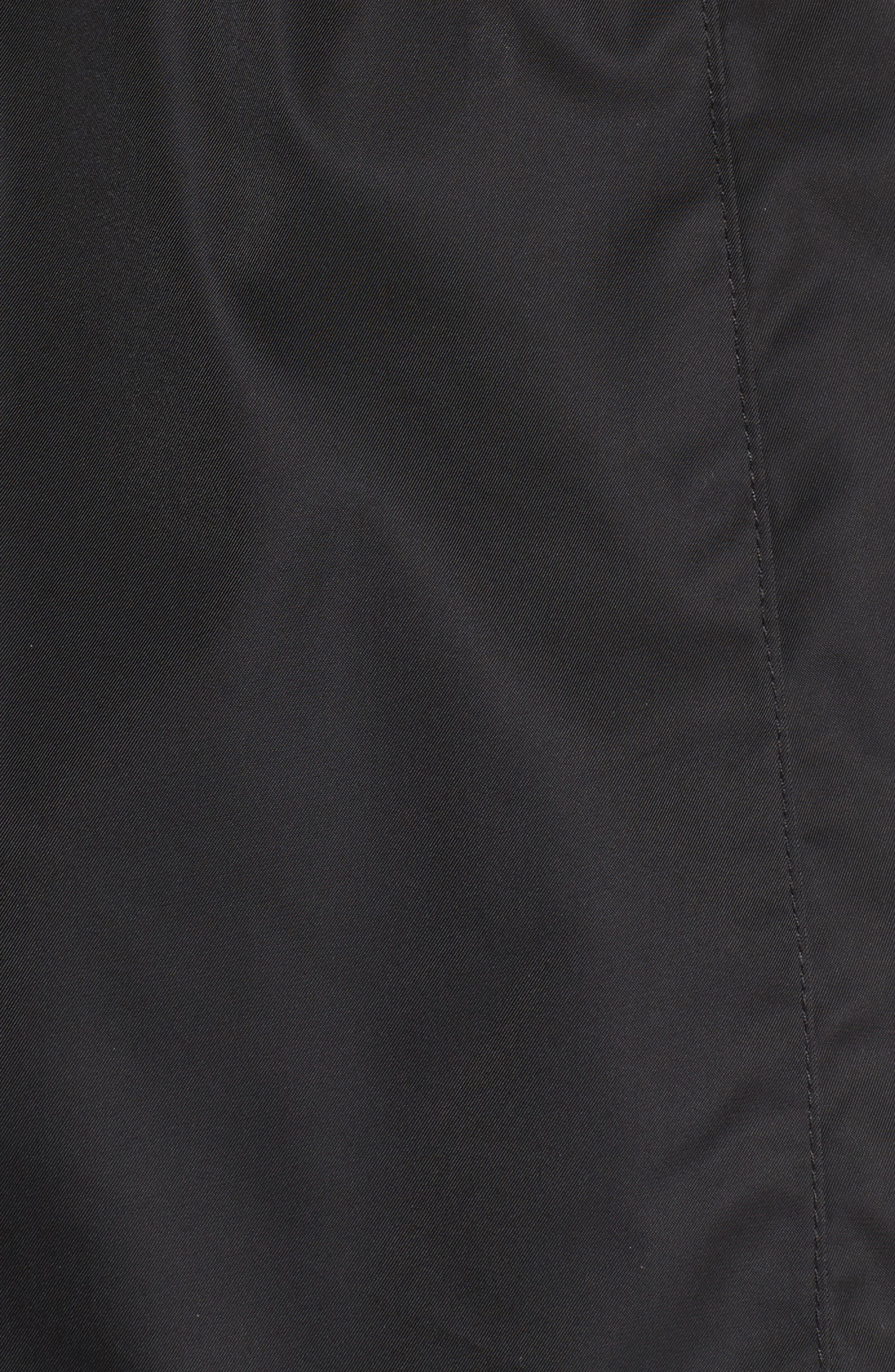 Techno Short Trench Coat,                             Alternate thumbnail 6, color,                             001
