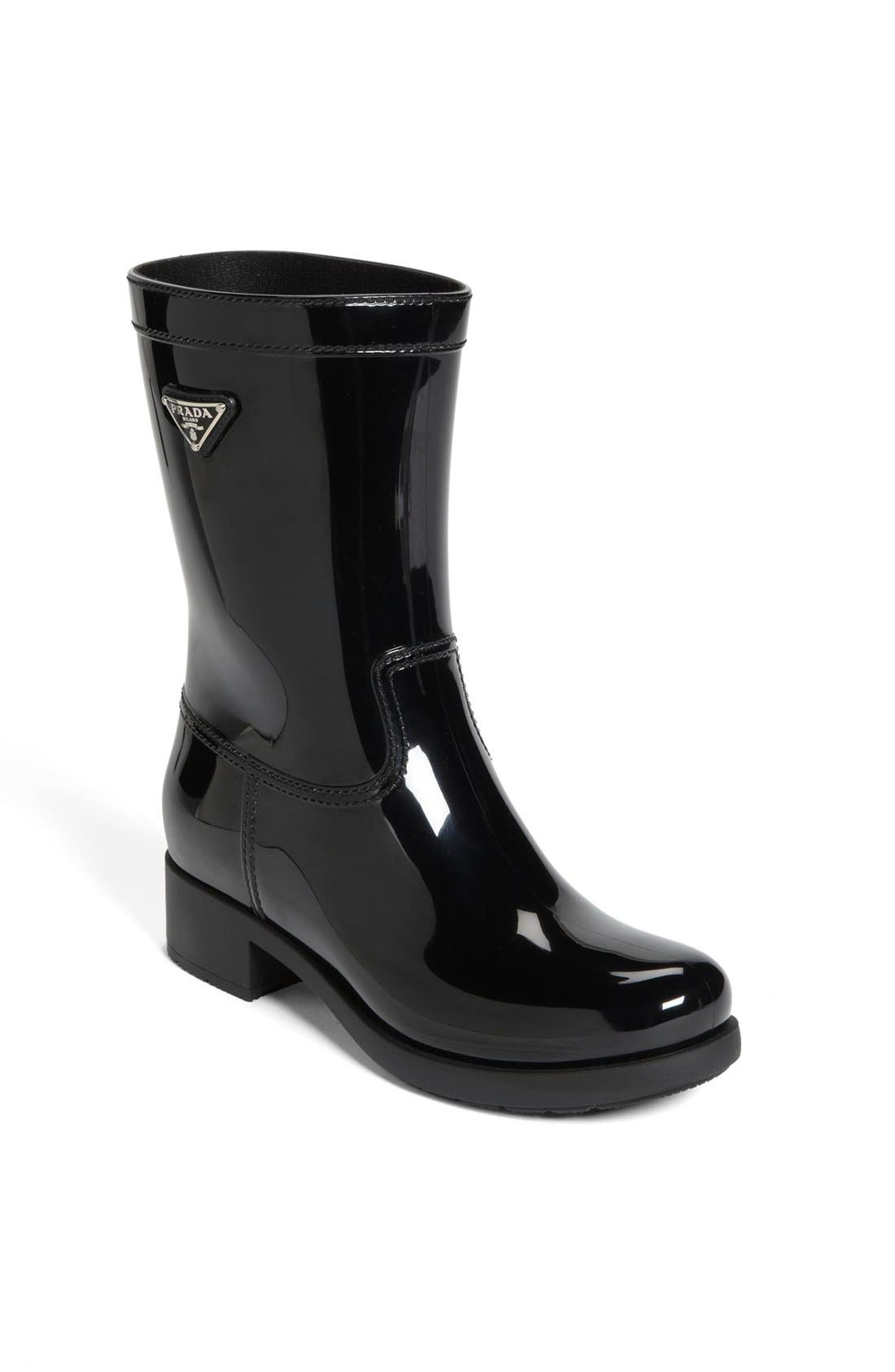 Rubber Rain Boot,                             Main thumbnail 1, color,                             002
