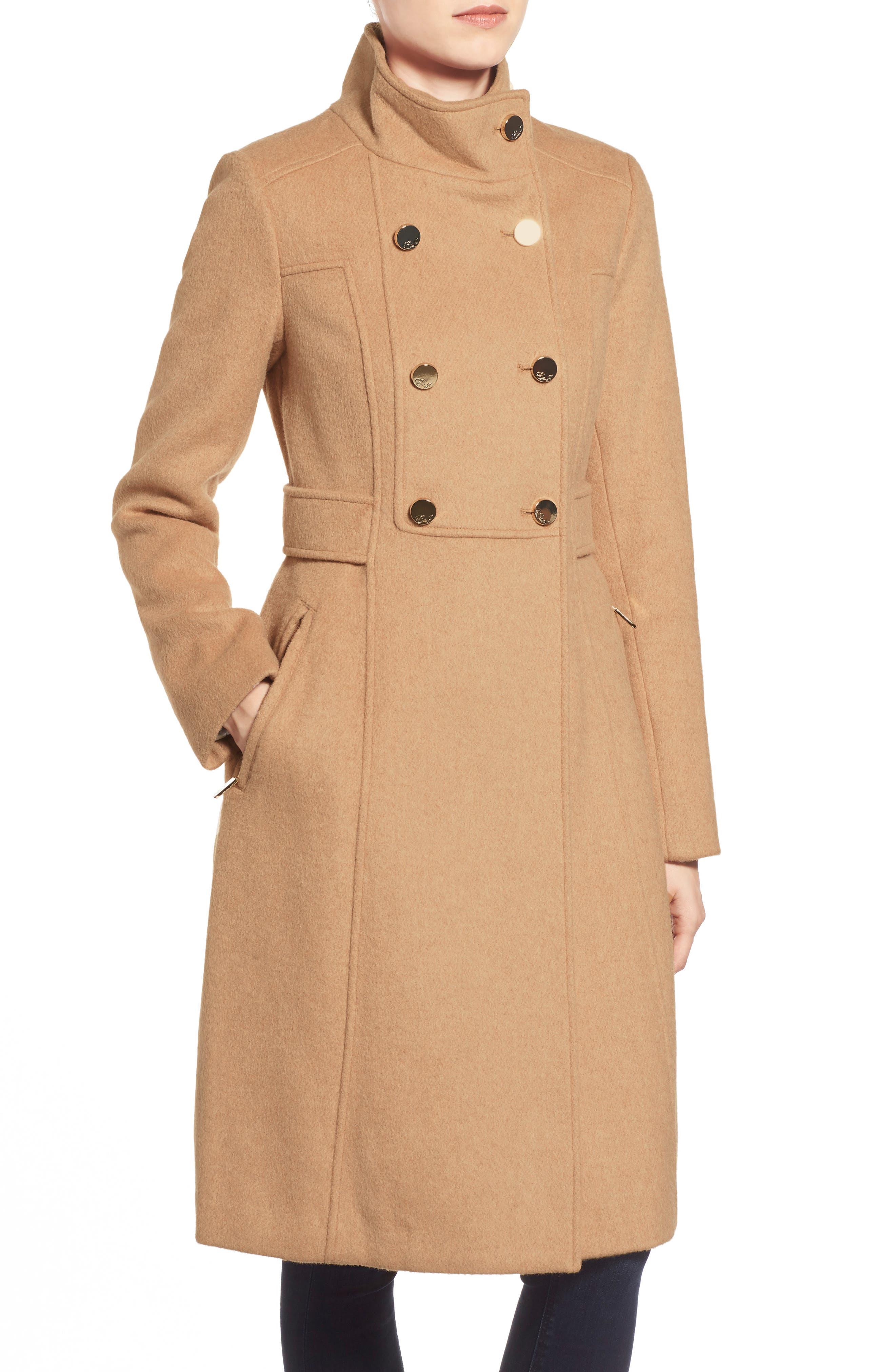 Wool Blend Long Military Coat,                             Alternate thumbnail 23, color,