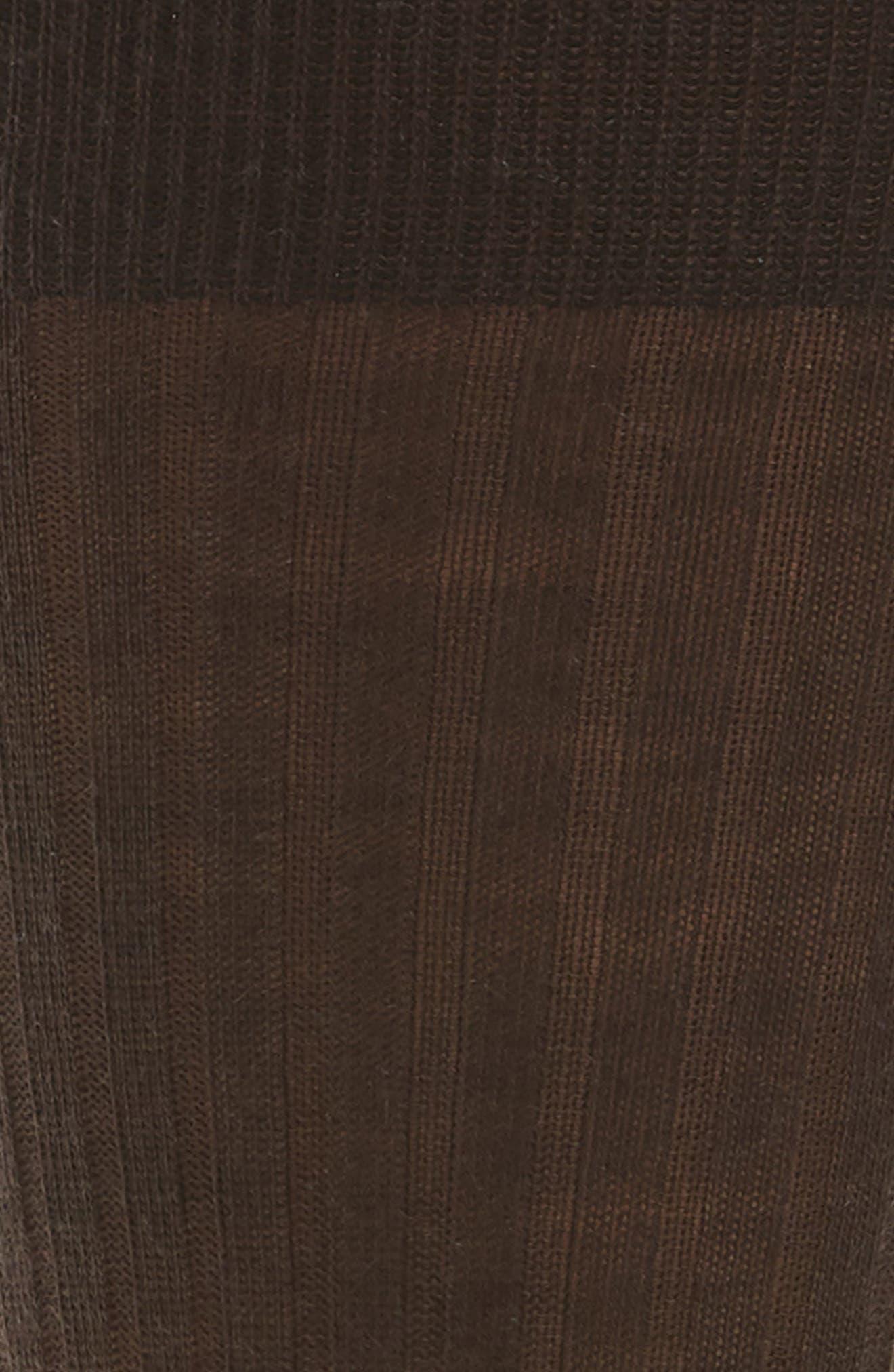 Ribbed Merino Wool Socks,                             Alternate thumbnail 2, color,                             BROWN DEMITASSE
