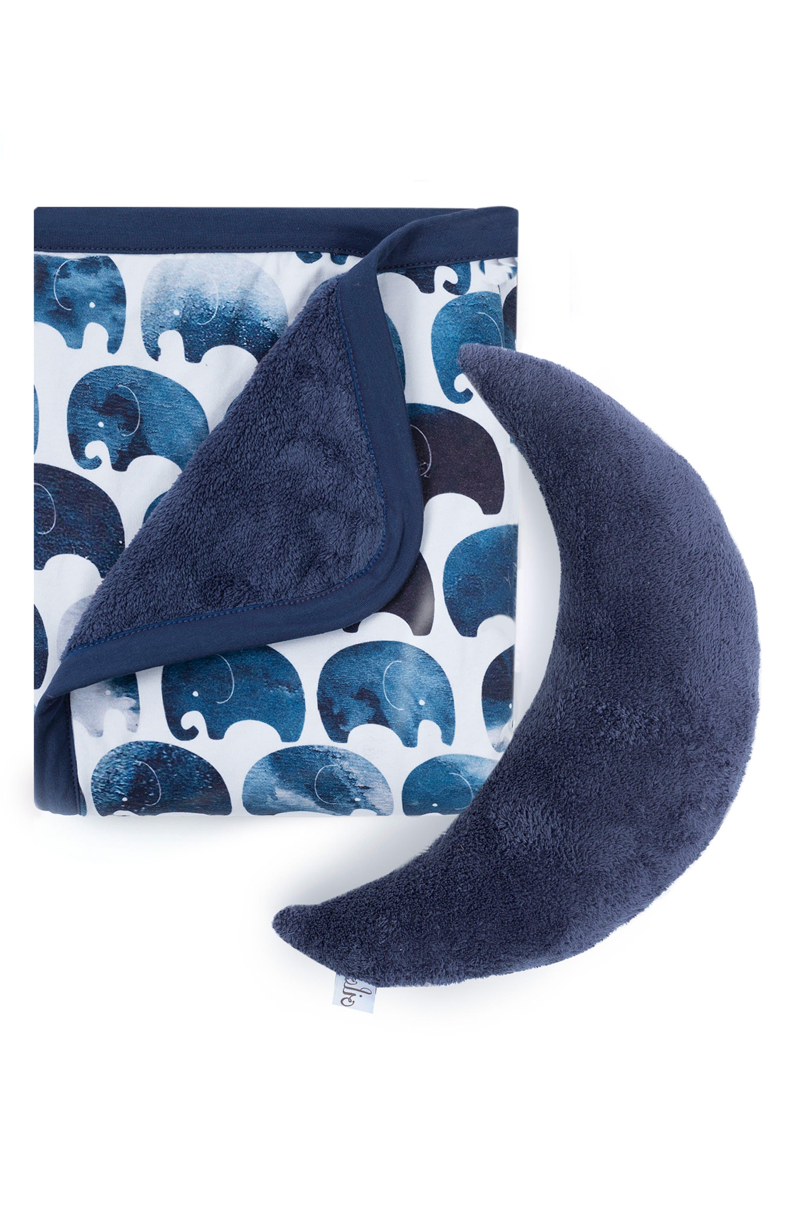 Elefant Blanket & Moon Pillow Set,                         Main,                         color, ELEFANT
