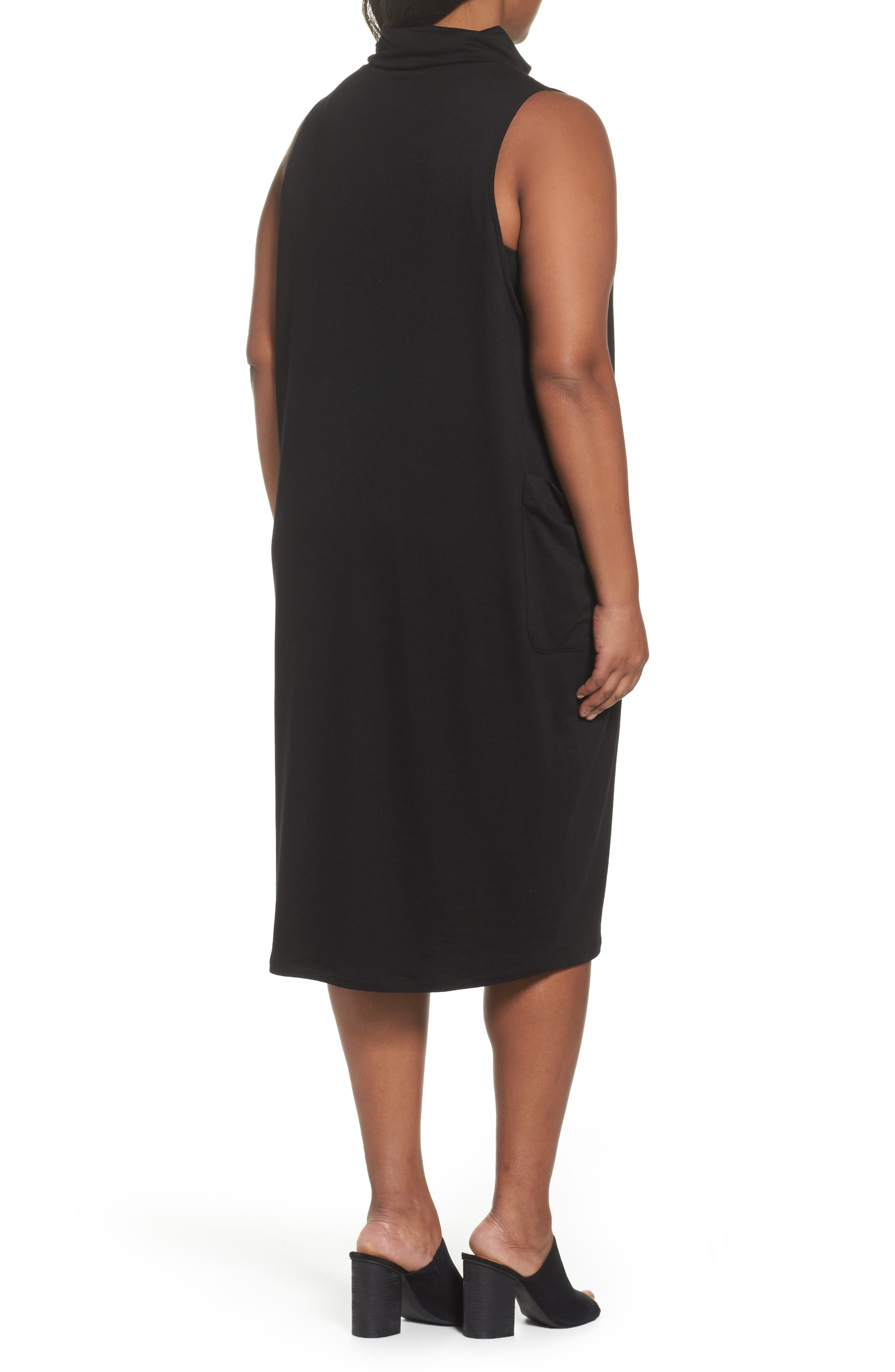Stretch Tencel<sup>®</sup> Knit Jumper Dress,                             Alternate thumbnail 4, color,