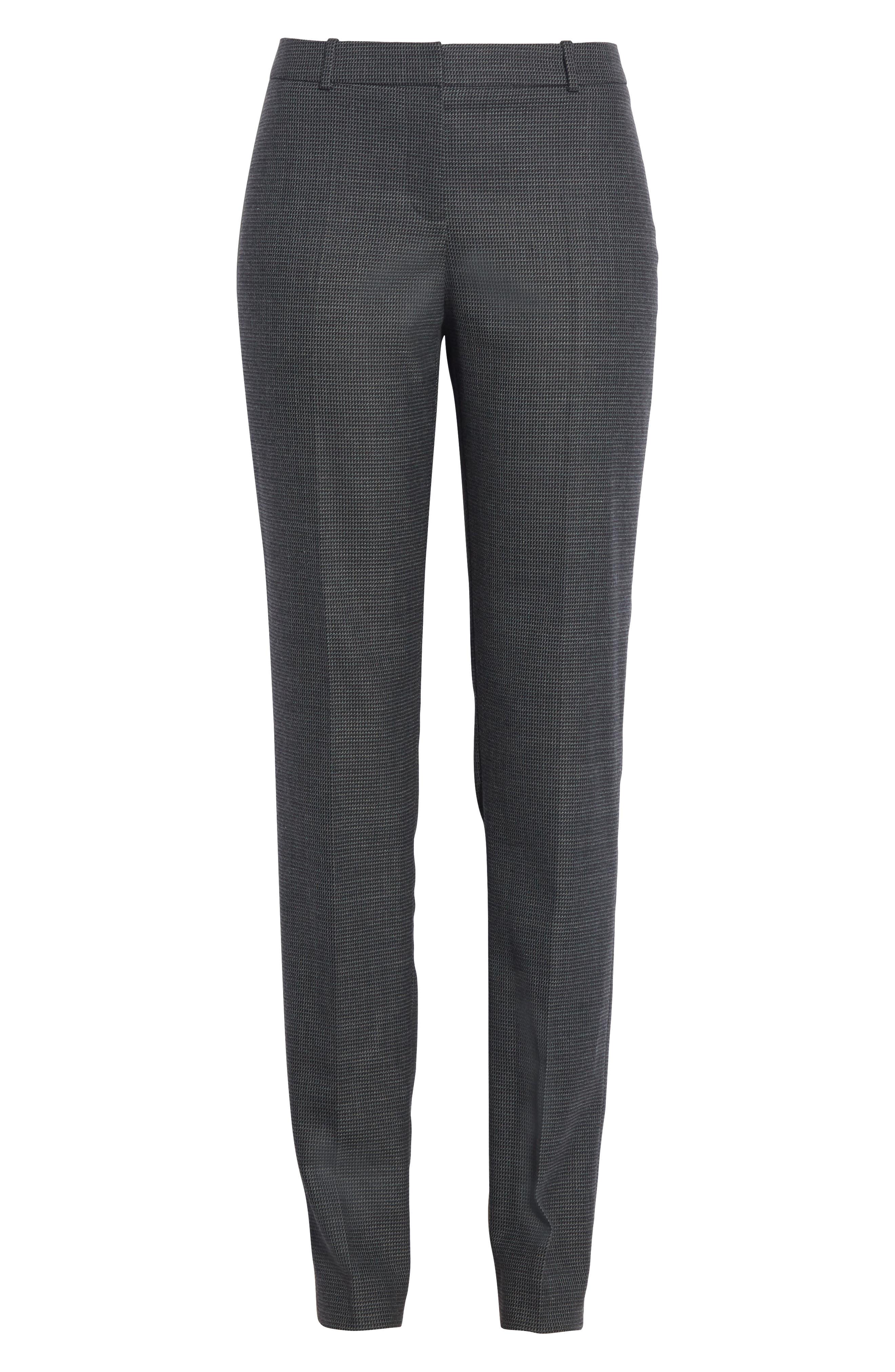 Tilunana Pinstripe Suit Trousers,                             Alternate thumbnail 7, color,                             020