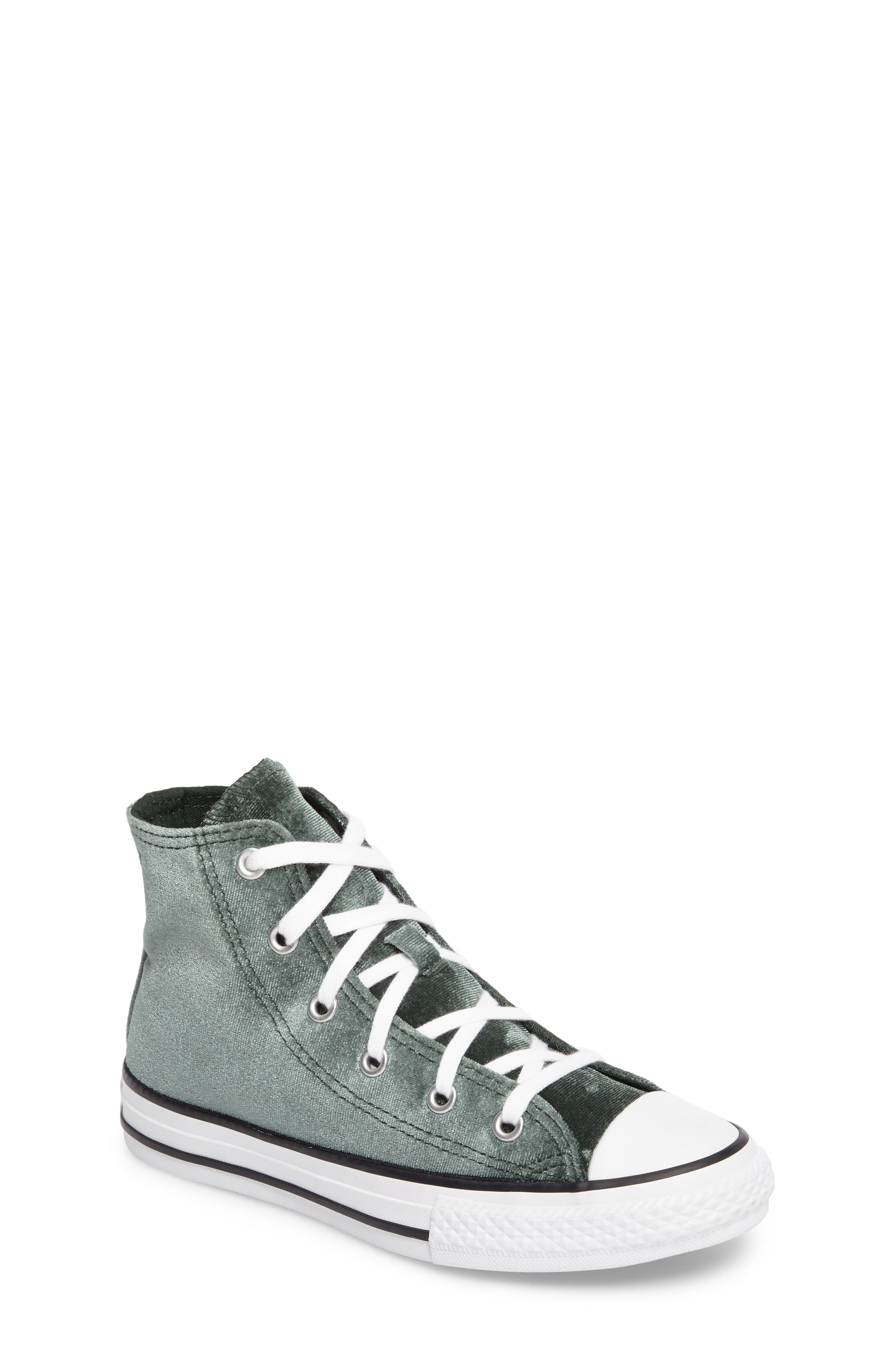 Chuck Taylor<sup>®</sup> All Star<sup>®</sup> Velvet High Top Sneaker,                         Main,                         color, 300