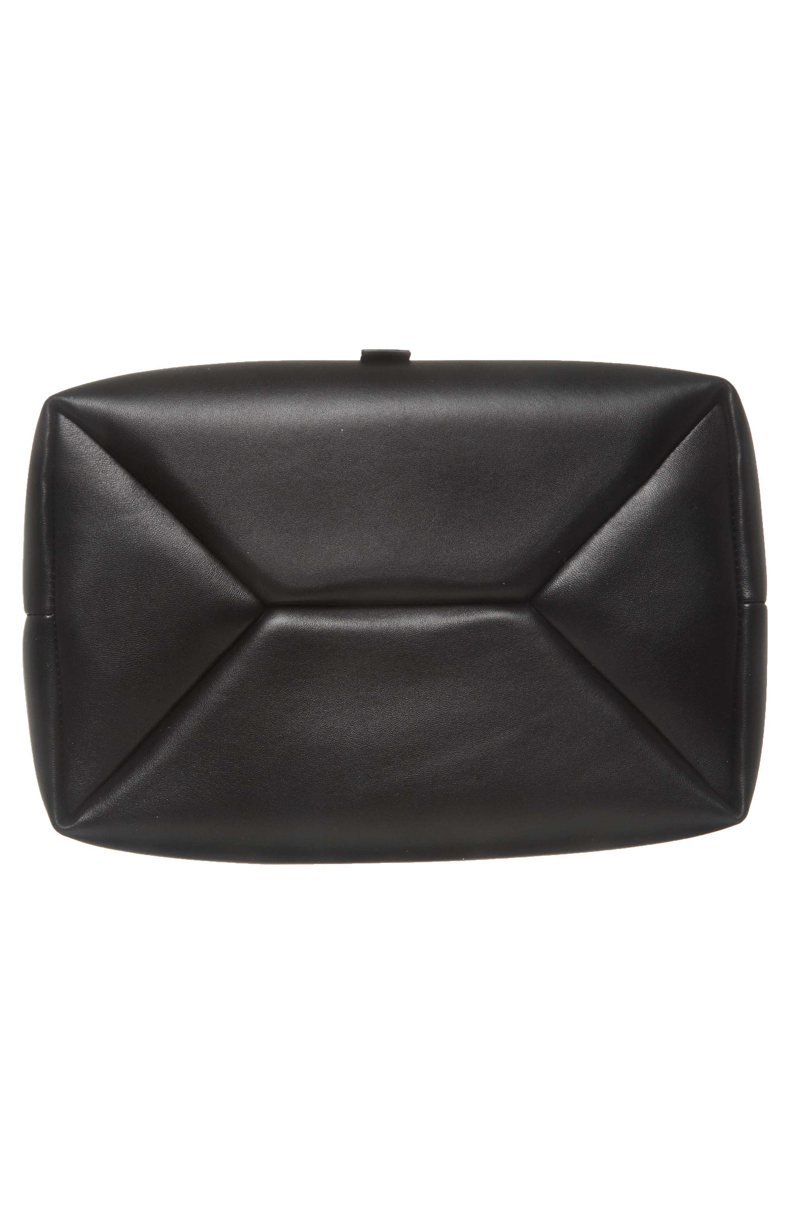 Frame Leather Shoulder Bag,                             Alternate thumbnail 6, color,                             BLACK/ BLACK