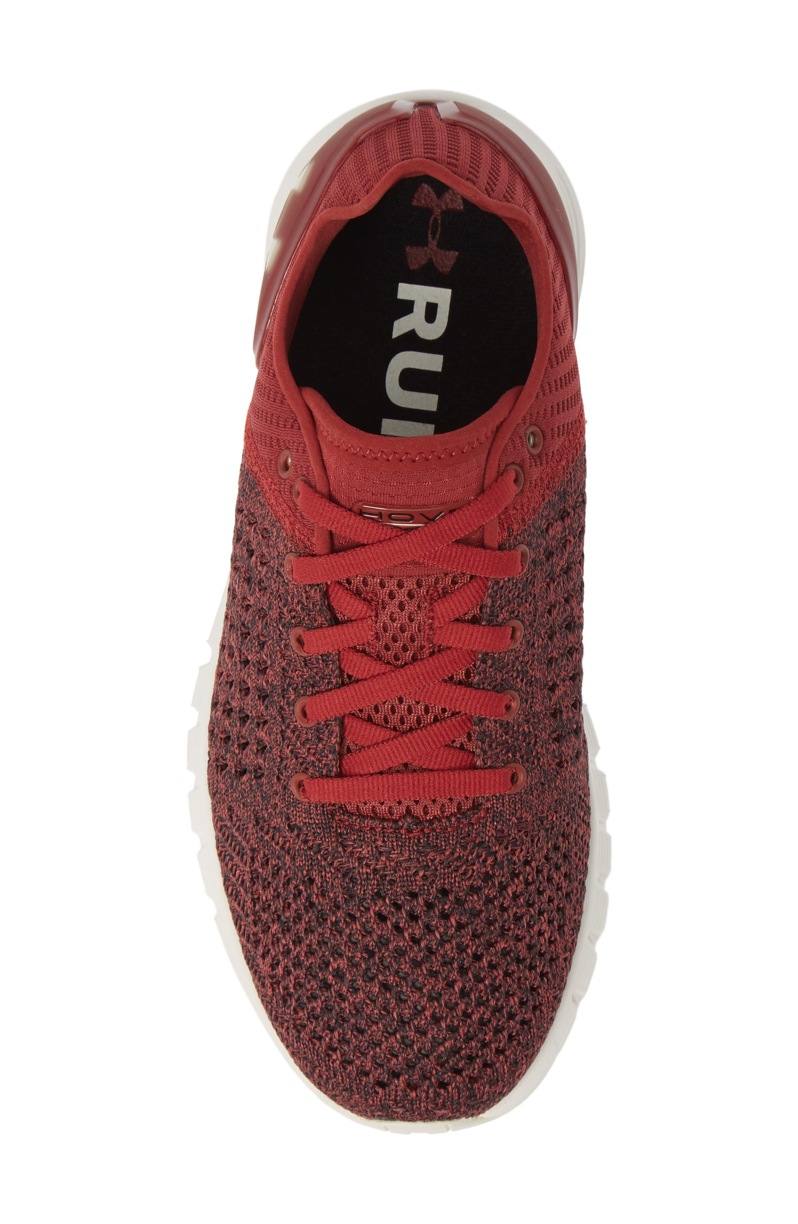 HOVR Sonic NC Running Shoe,                             Alternate thumbnail 5, color,                             BRICK RED/ BLACK/ IVORY