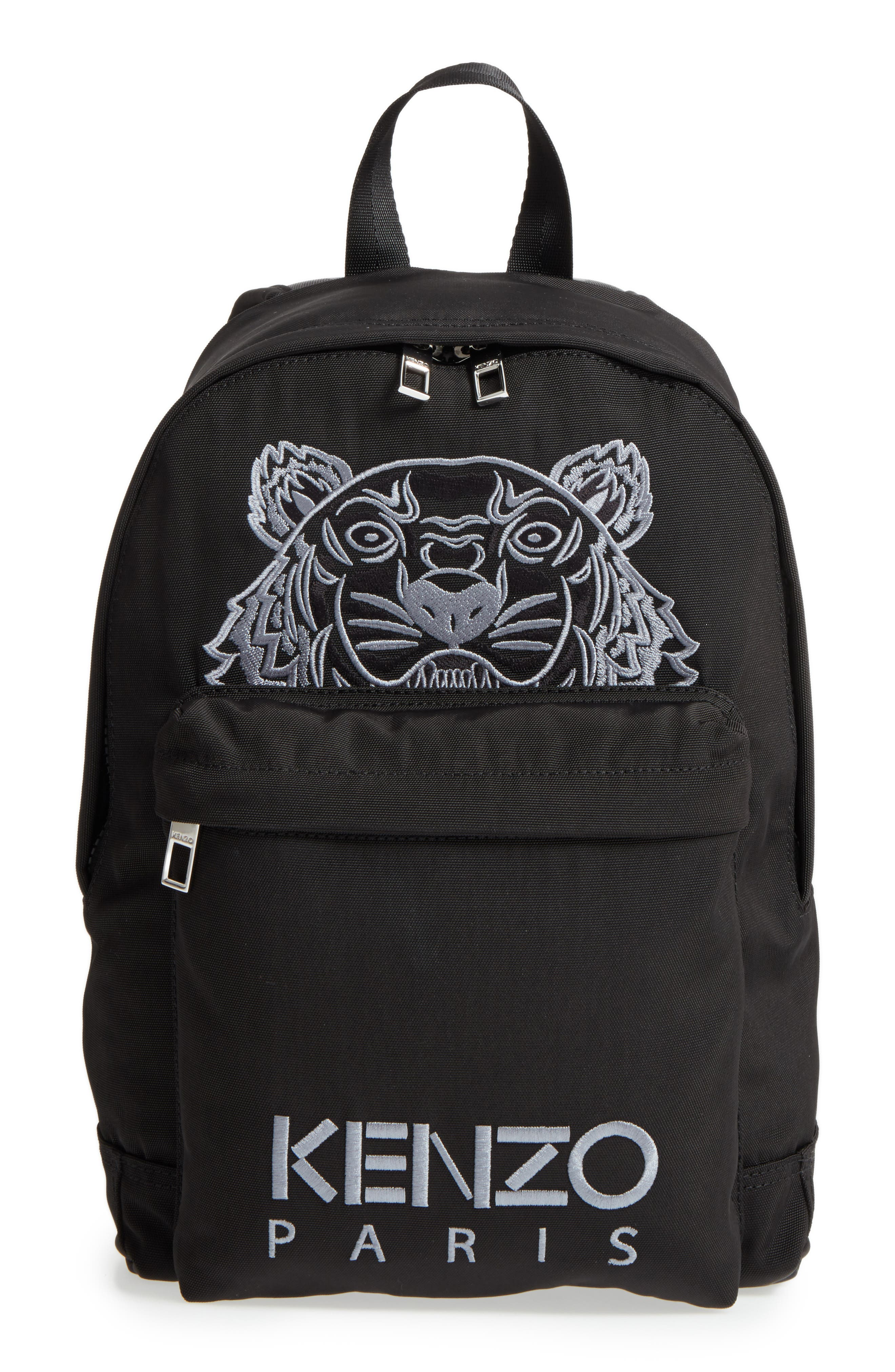 Small Kanvas Tiger Backpack,                             Main thumbnail 1, color,                             001