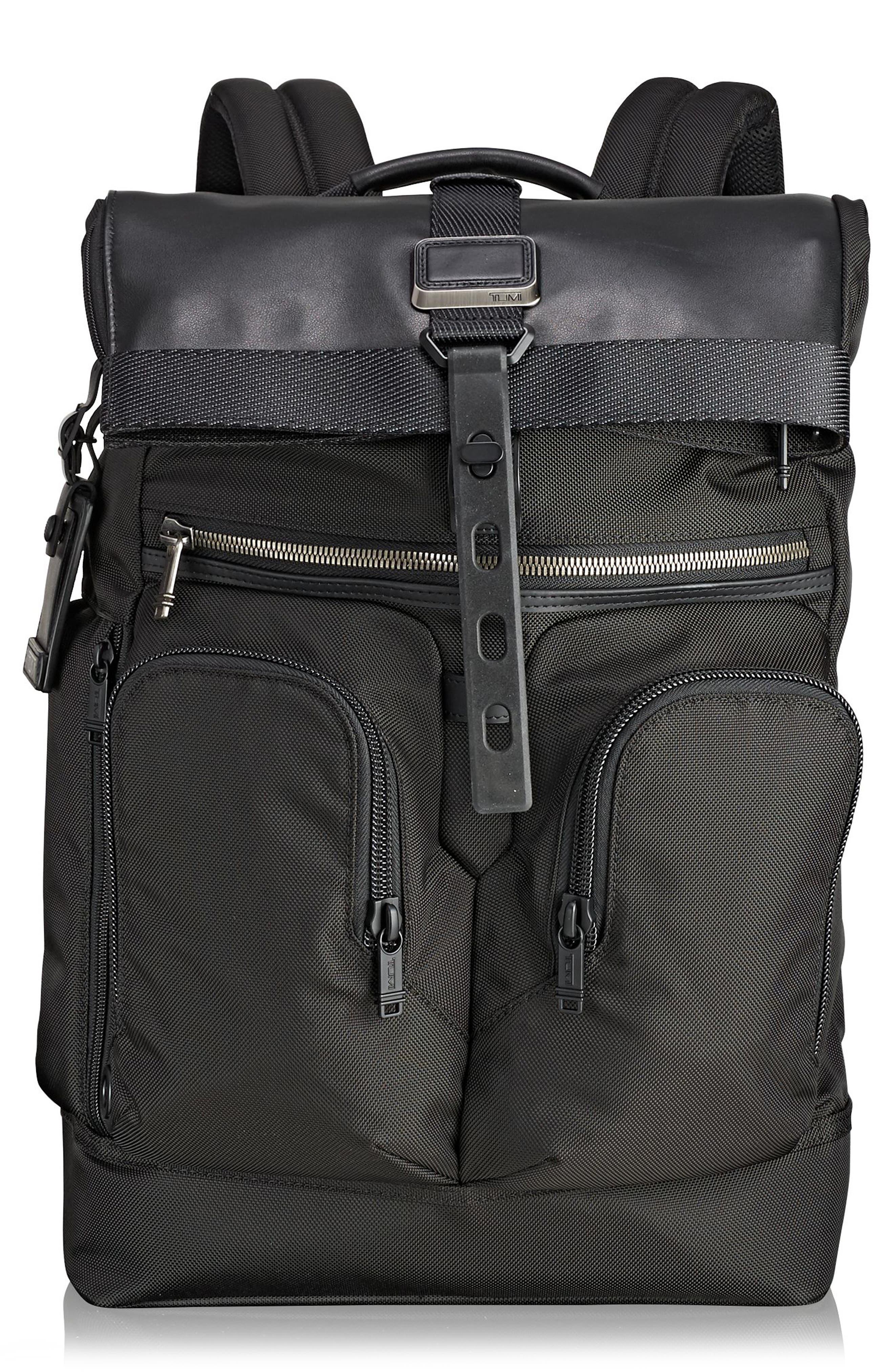 Alpha Bravo - London Backpack,                             Main thumbnail 1, color,                             BLACK