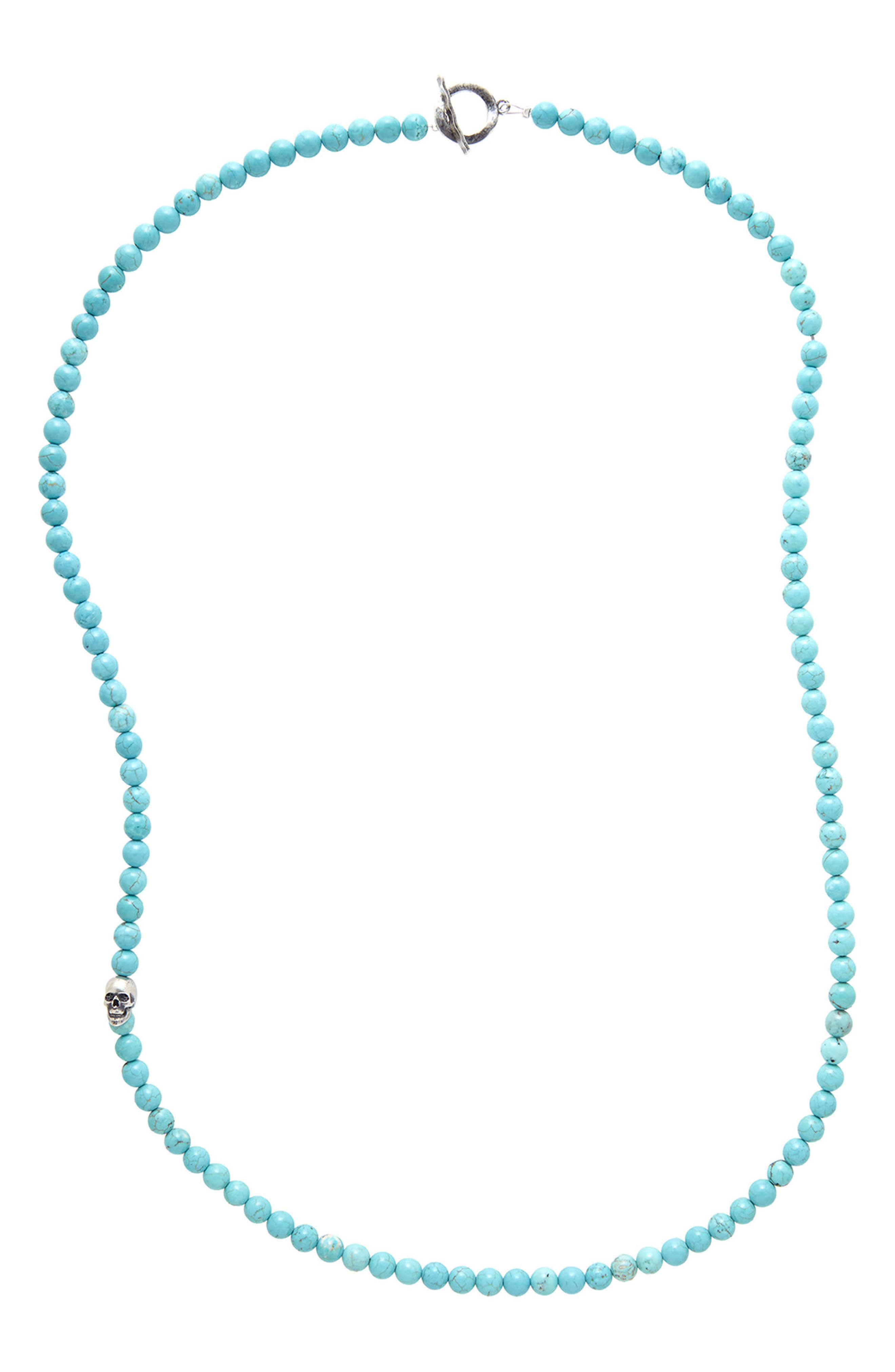 Turquoise Bead Necklace,                         Main,                         color, 400